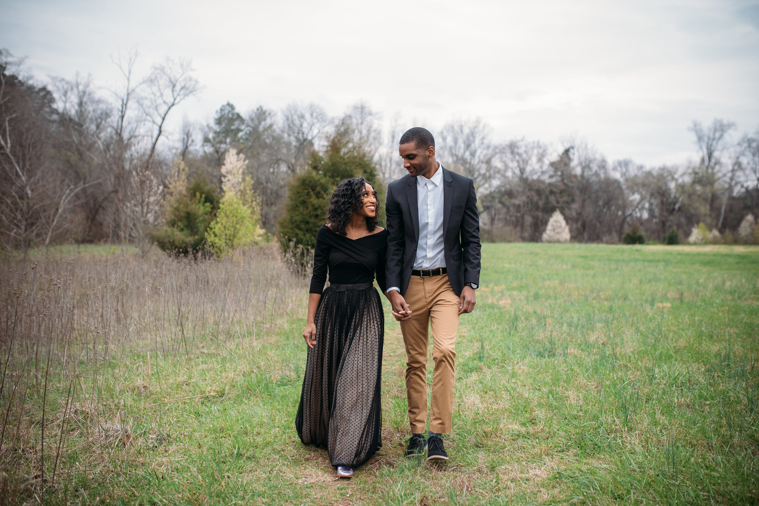 merritt's pasture engagement session - chapel hill wedding photographer - north carolina wedding photographer