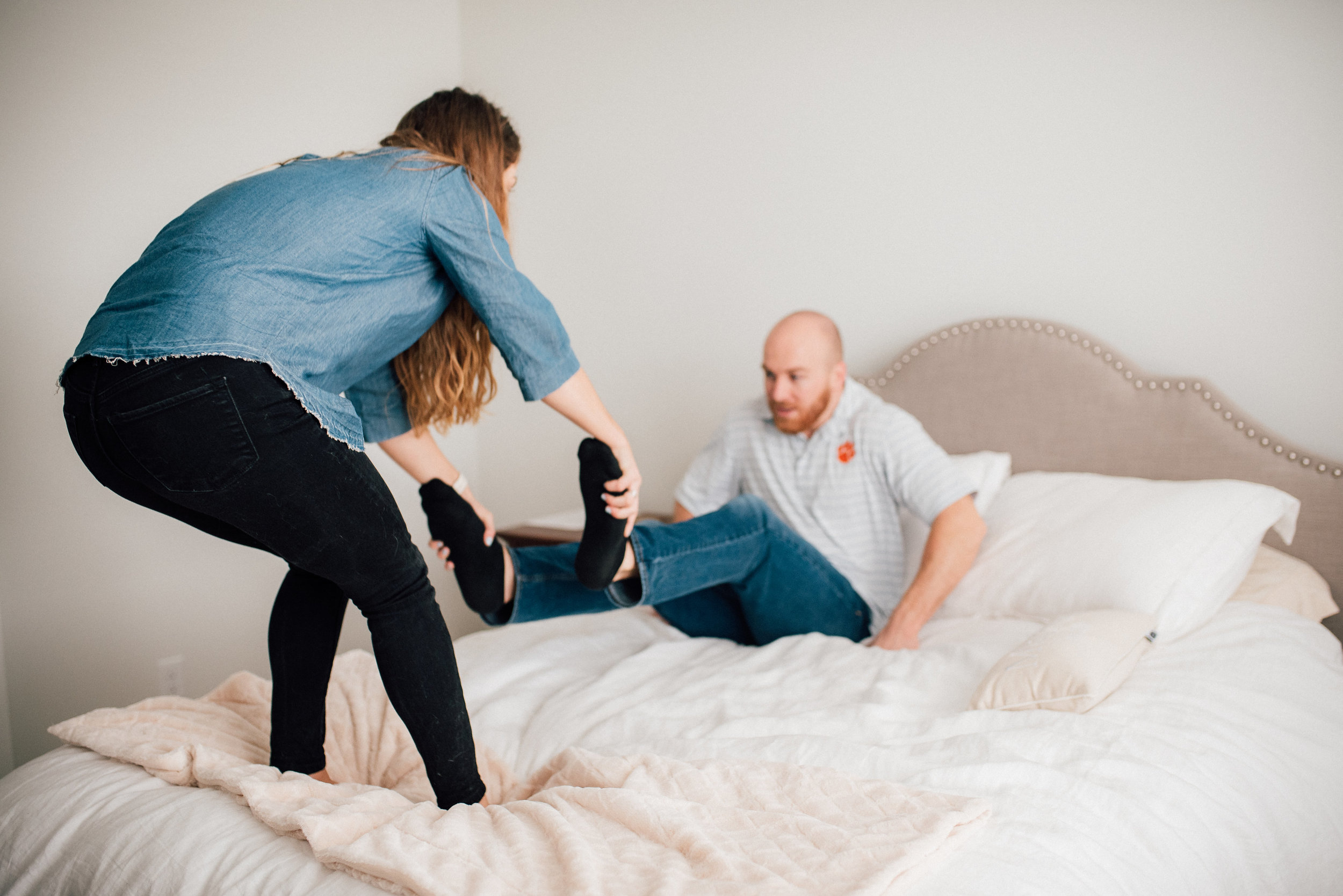 in-home engagement session - south carolina wedding photographer - north carolina wedding photographer