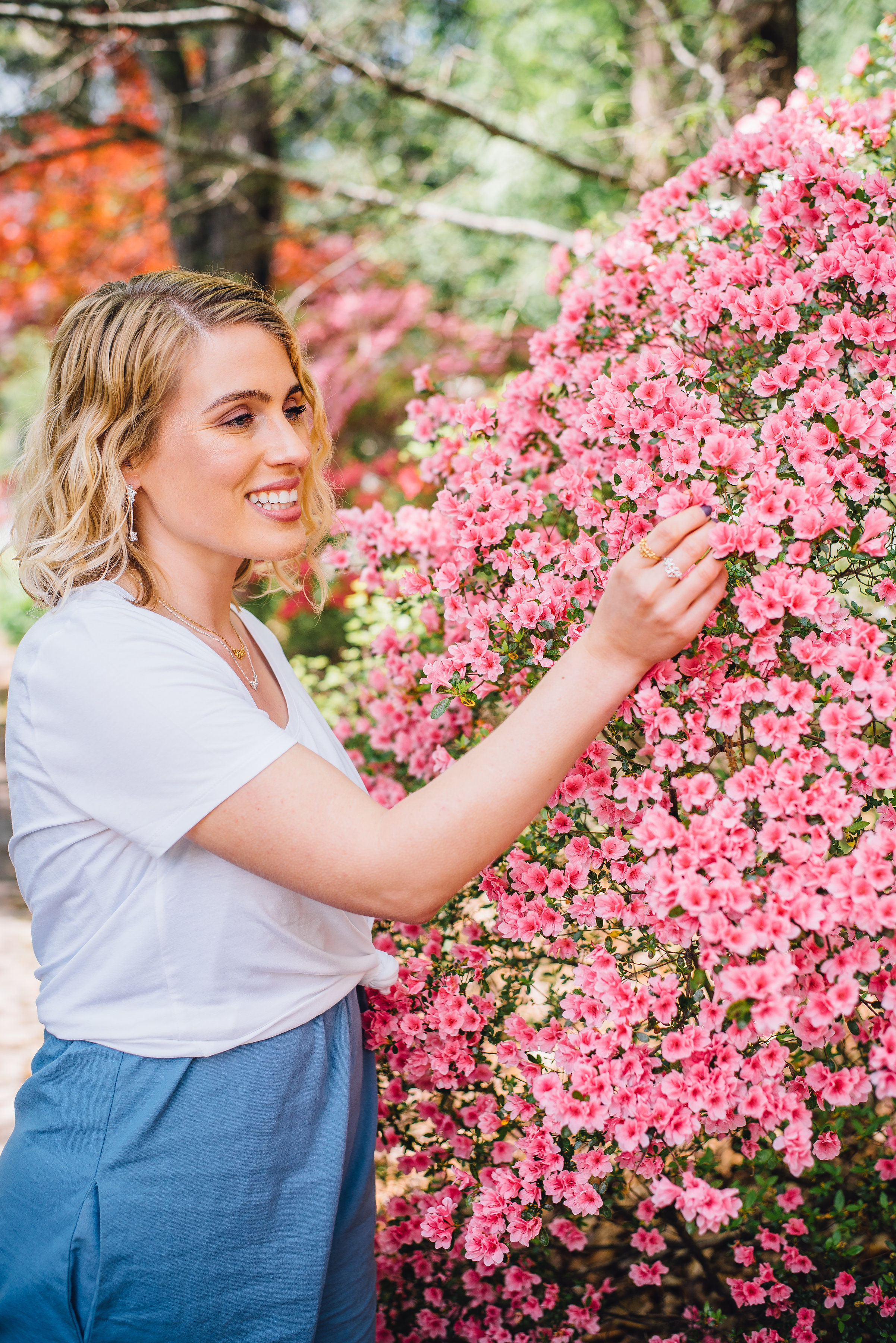 raleigh promotional photographer - spring editorial shoot - mary frances flowers