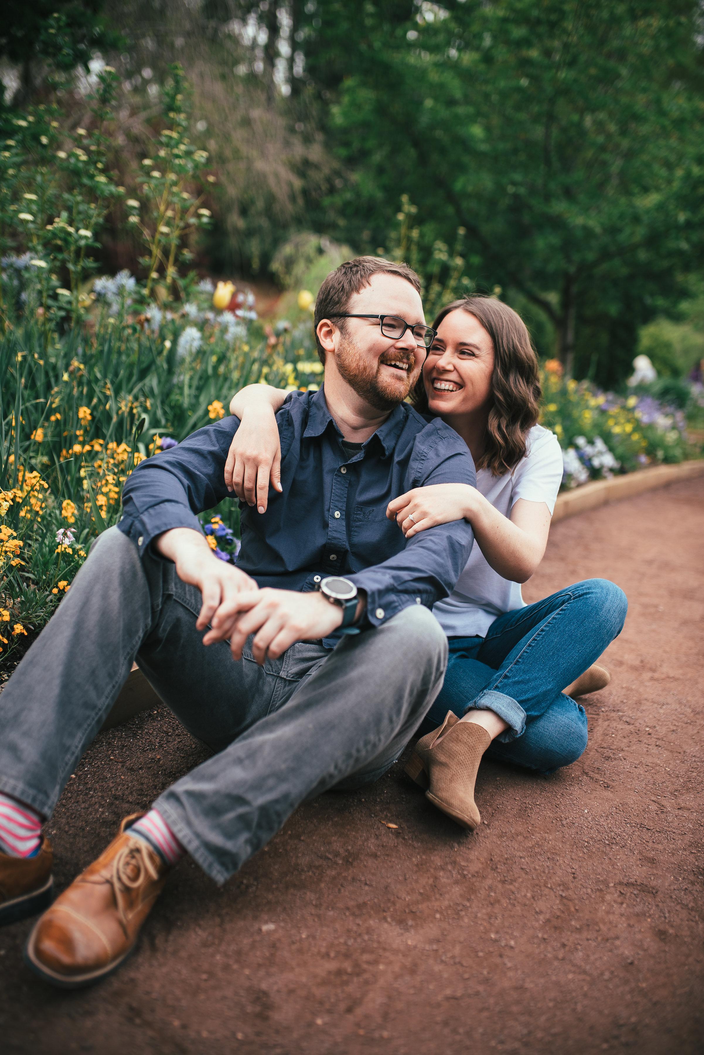 north carolina wedding photographer - duke gardens engagement - durham wedding photographer