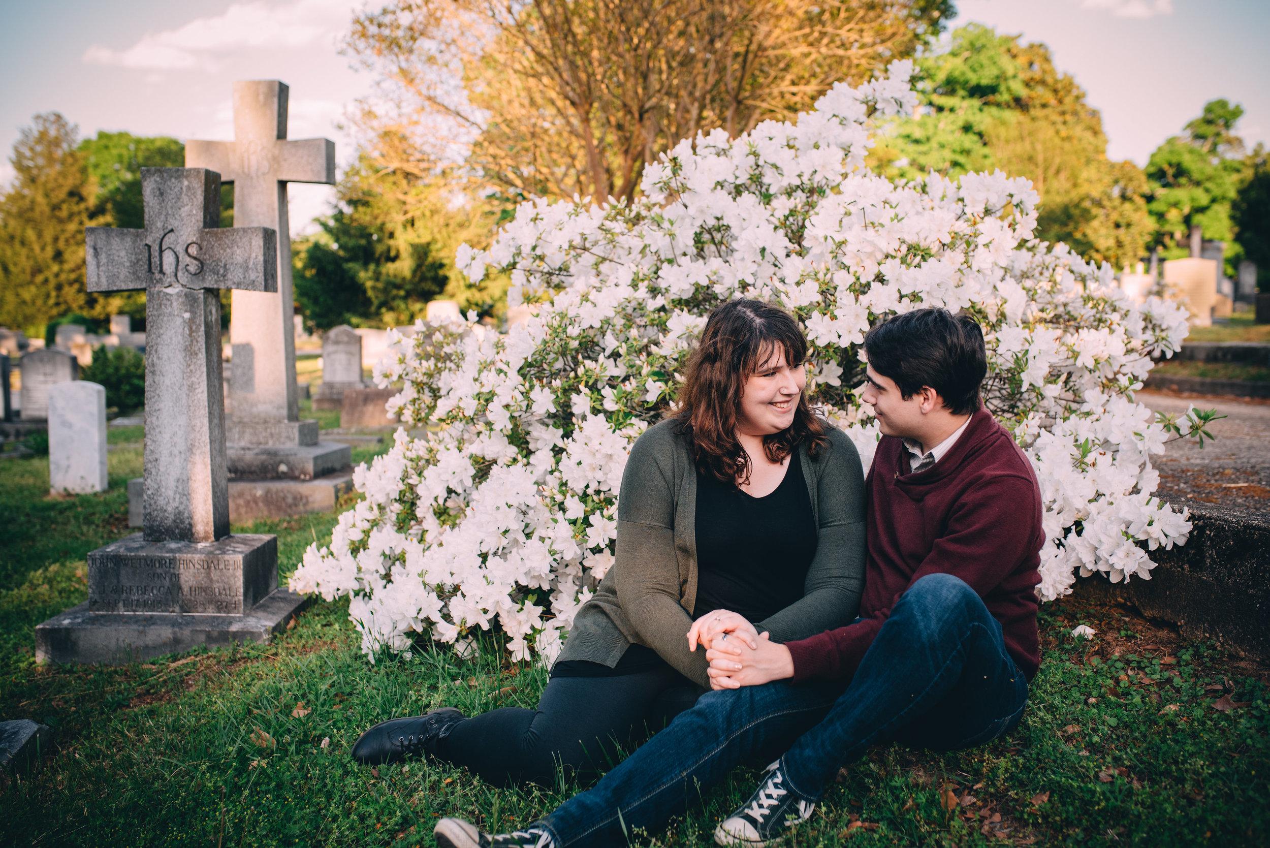 oakwood cemetery engagement - north carolina wedding photographer - raleigh wedding photographer