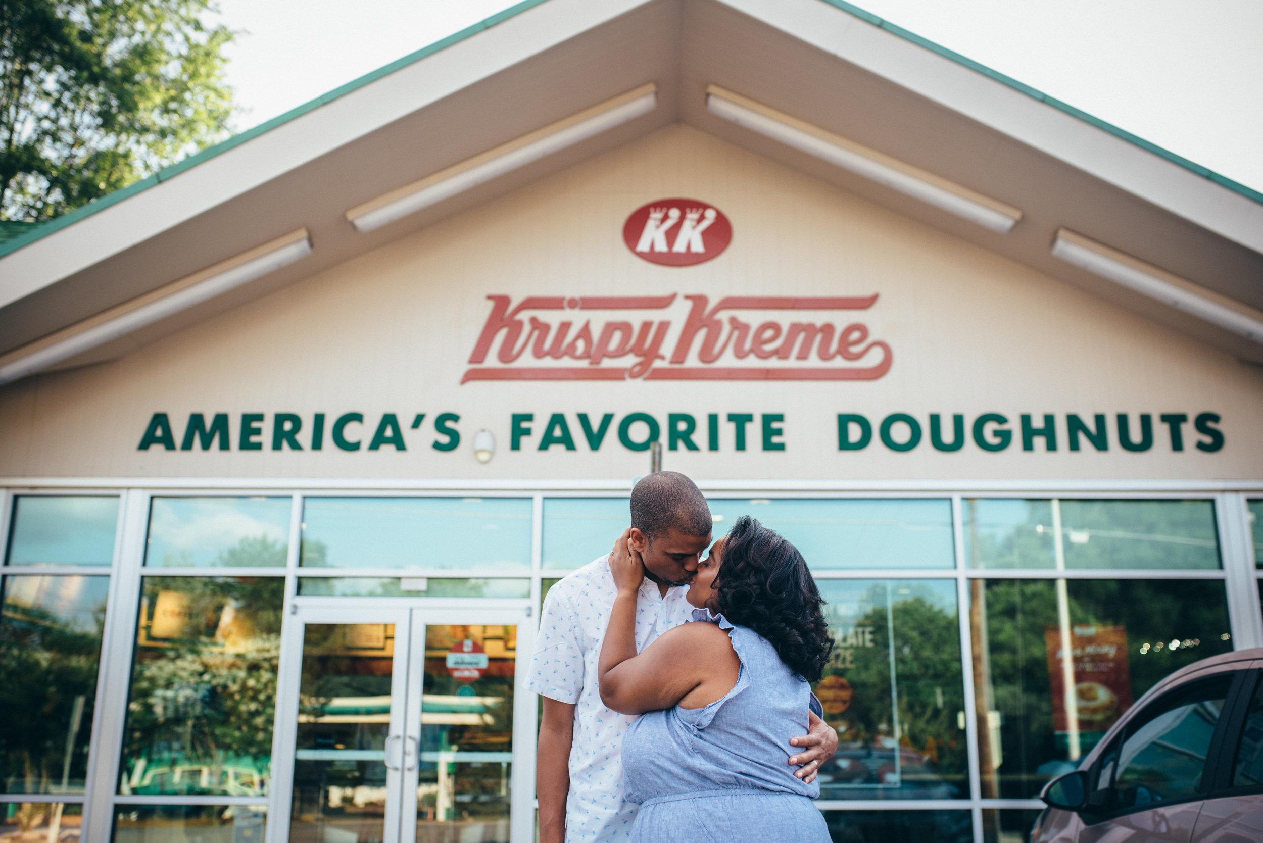 Raleigh Wedding Photographer - North Carolina Wedding Photographer - Krispy Kreme Photoshoot