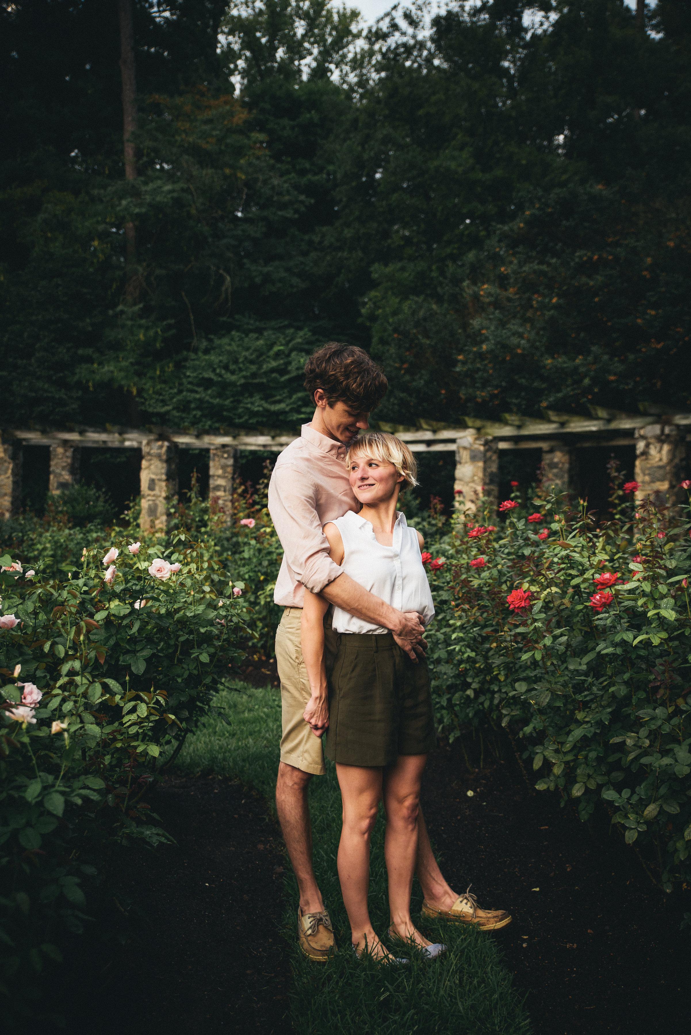 Rose Garden Engagement Session - Raleigh Engagement - North Carolina Wedding Photographer