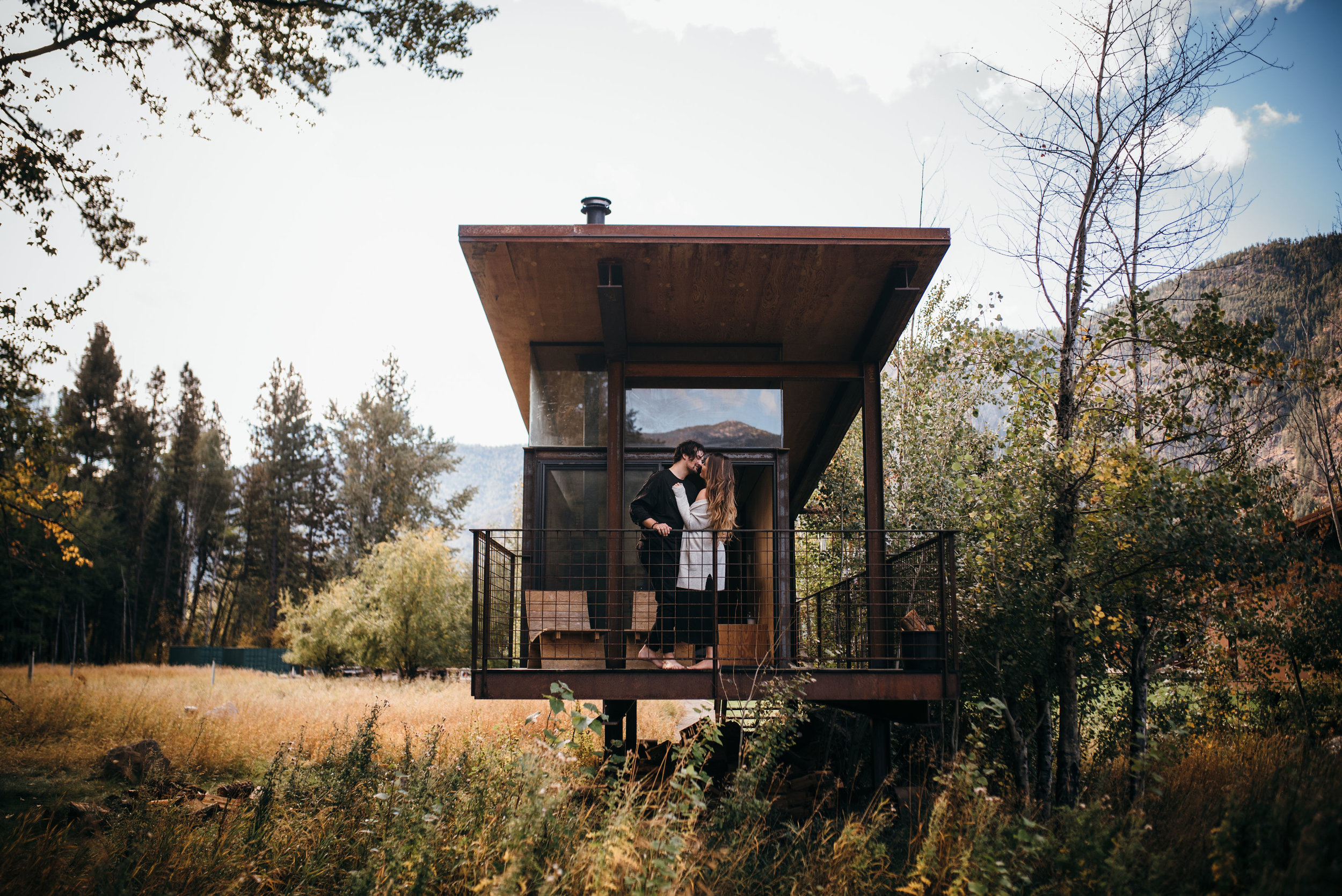 rolling huts engagement - north cascades wedding photographer - pacific northwest wedding photographer