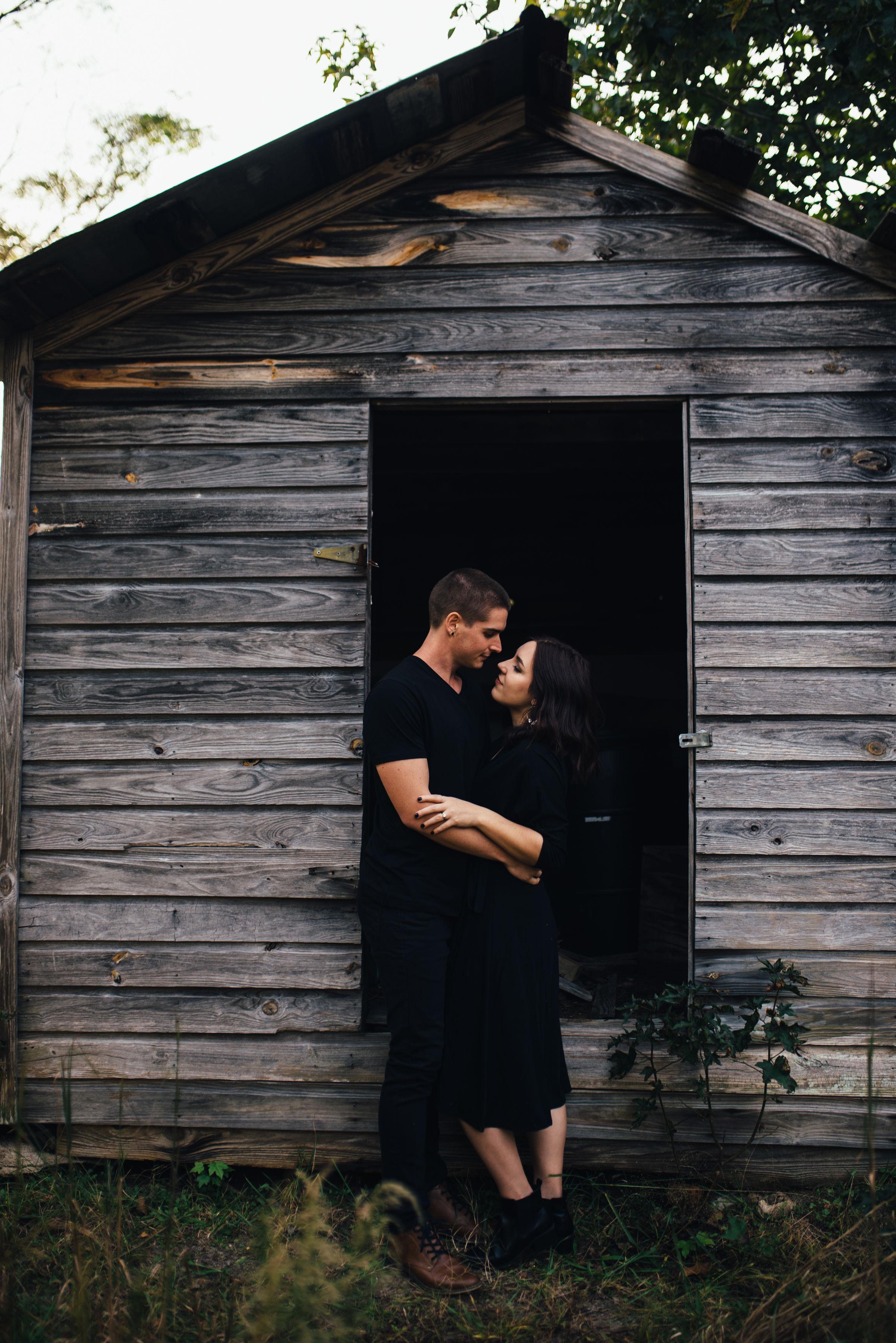 dhaunted halloween engagement shoot - halloween couple session - north carolina wedding photographer - raleigh wedding photographer
