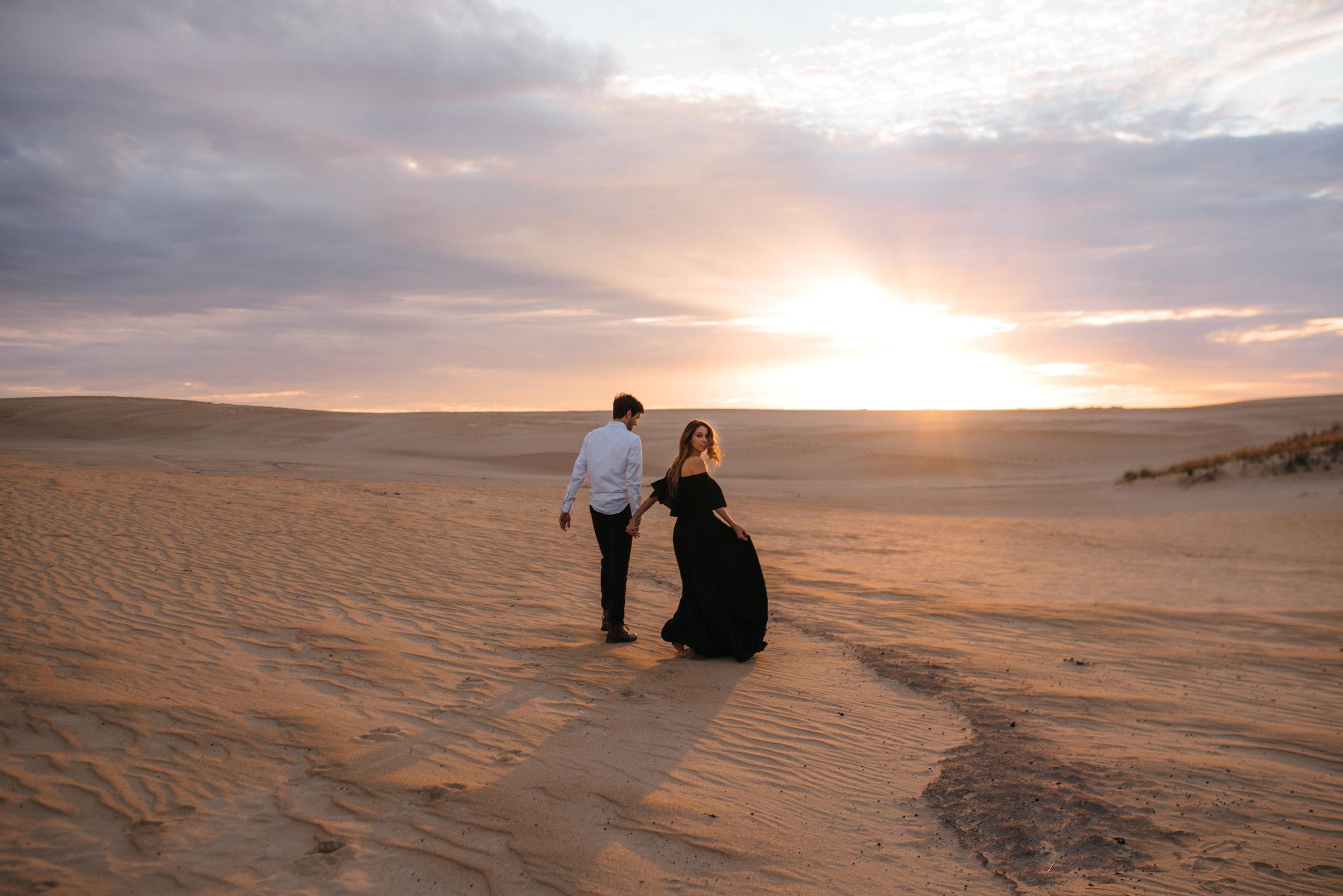 outer banks engagement - jockey's ridge  engagement photographer - north carolina wedding photographer