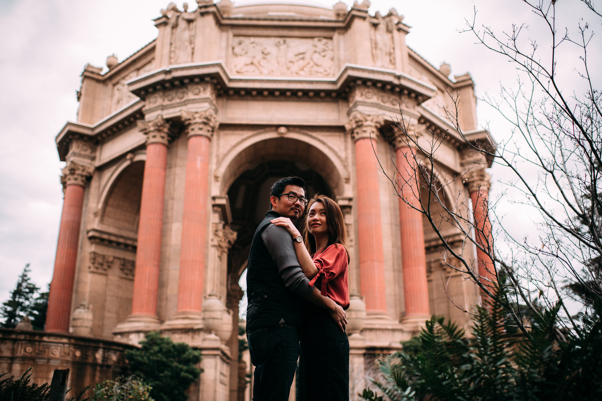 san francisco wedding photographer - san francisco engagement photographer - palace of fine arts engagement