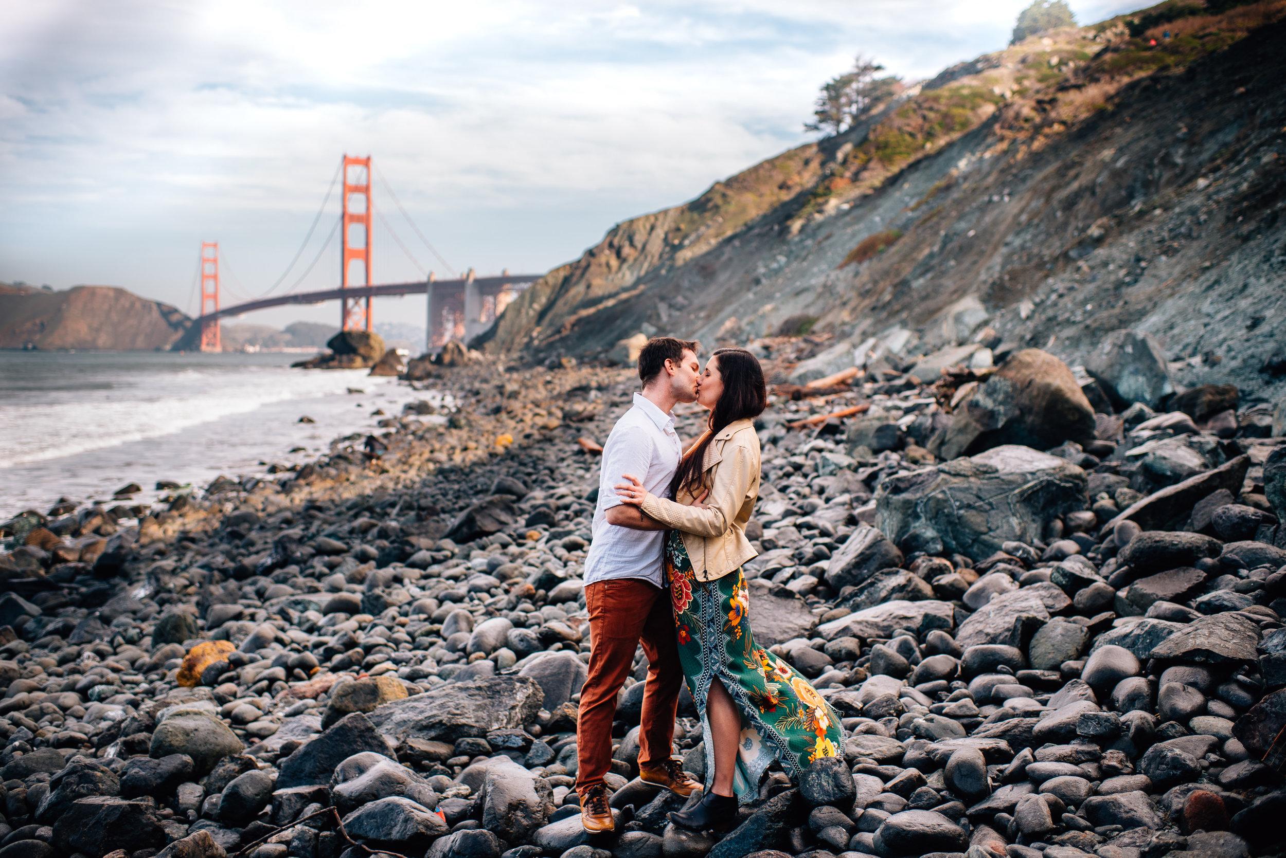 brittany and ryan - san francisco wedding photographer - san francisco engagement photographer- golden gate engagement - marshalls beach engagement