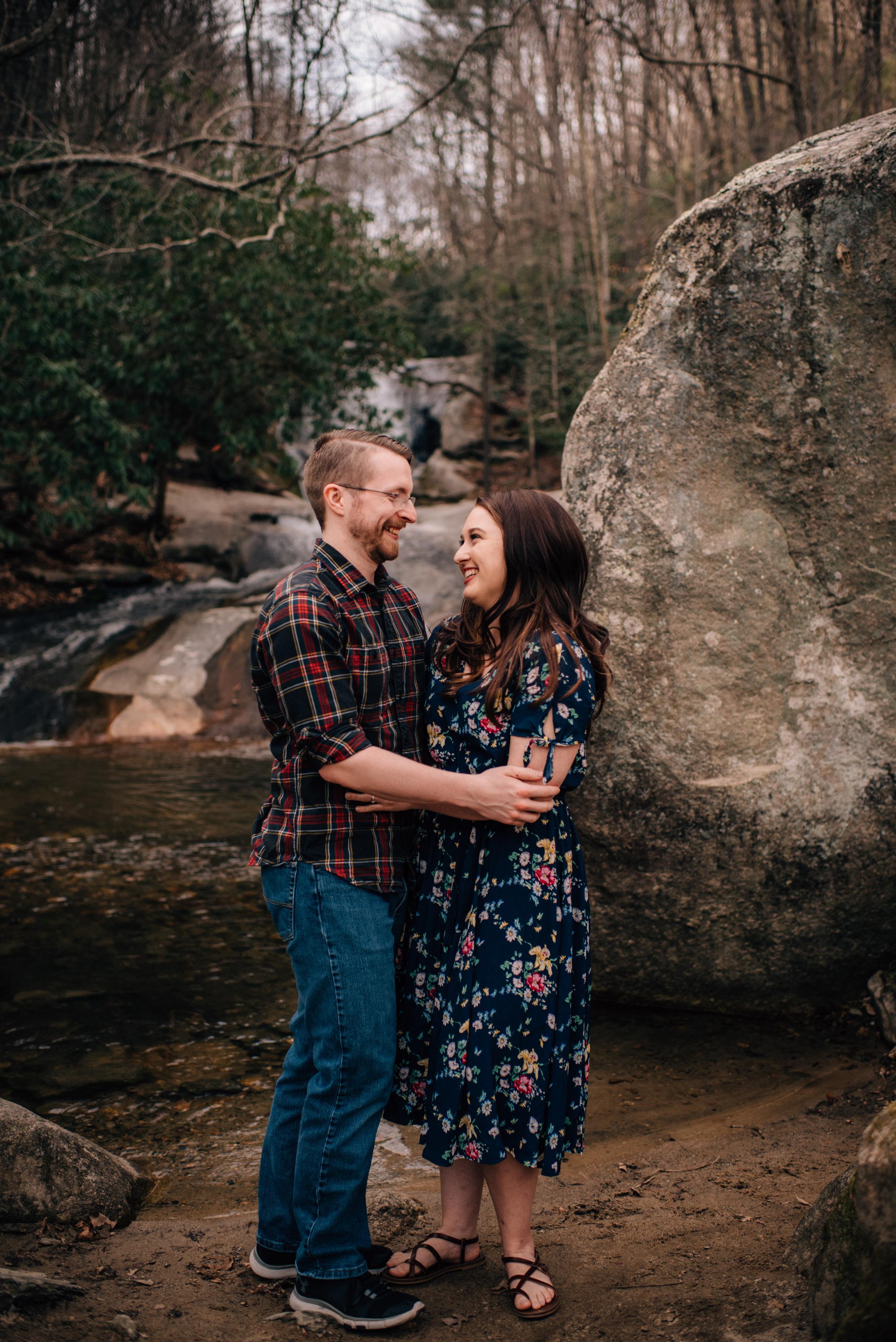 """Asheville Engagement - Asheville Wedding Photographer - North Carolina Wedding Photographer - Stone Mountain Engagement"""""""
