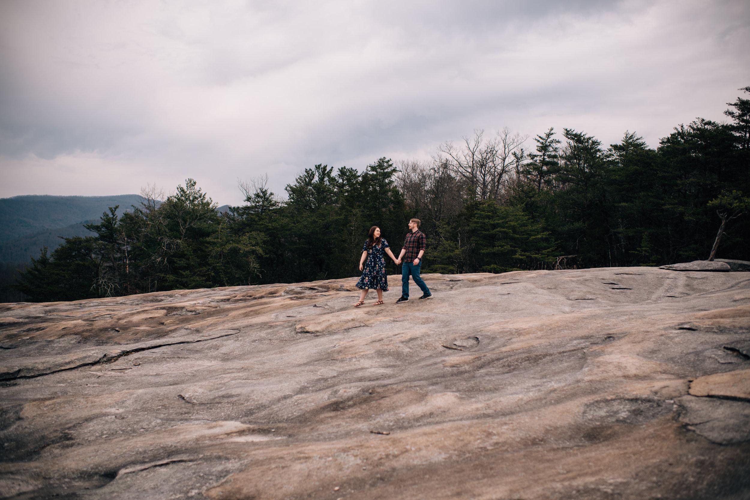 Asheville Engagement - Asheville Wedding Photographer - North Carolina Wedding Photographer - Stone Mountain Engagement