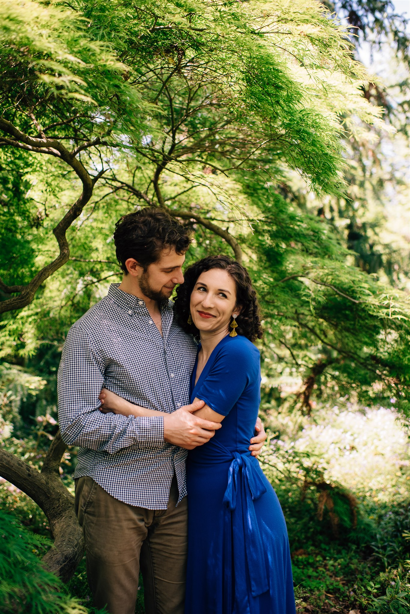 Chapel Hill Engagement Session - Chapel Hill Wedding Photographer - North Carolina Wedding Photographer - UNC Chapel Hill Engagement - Coker Arboretum Engagement Session - Linda's Bar Engagement Session