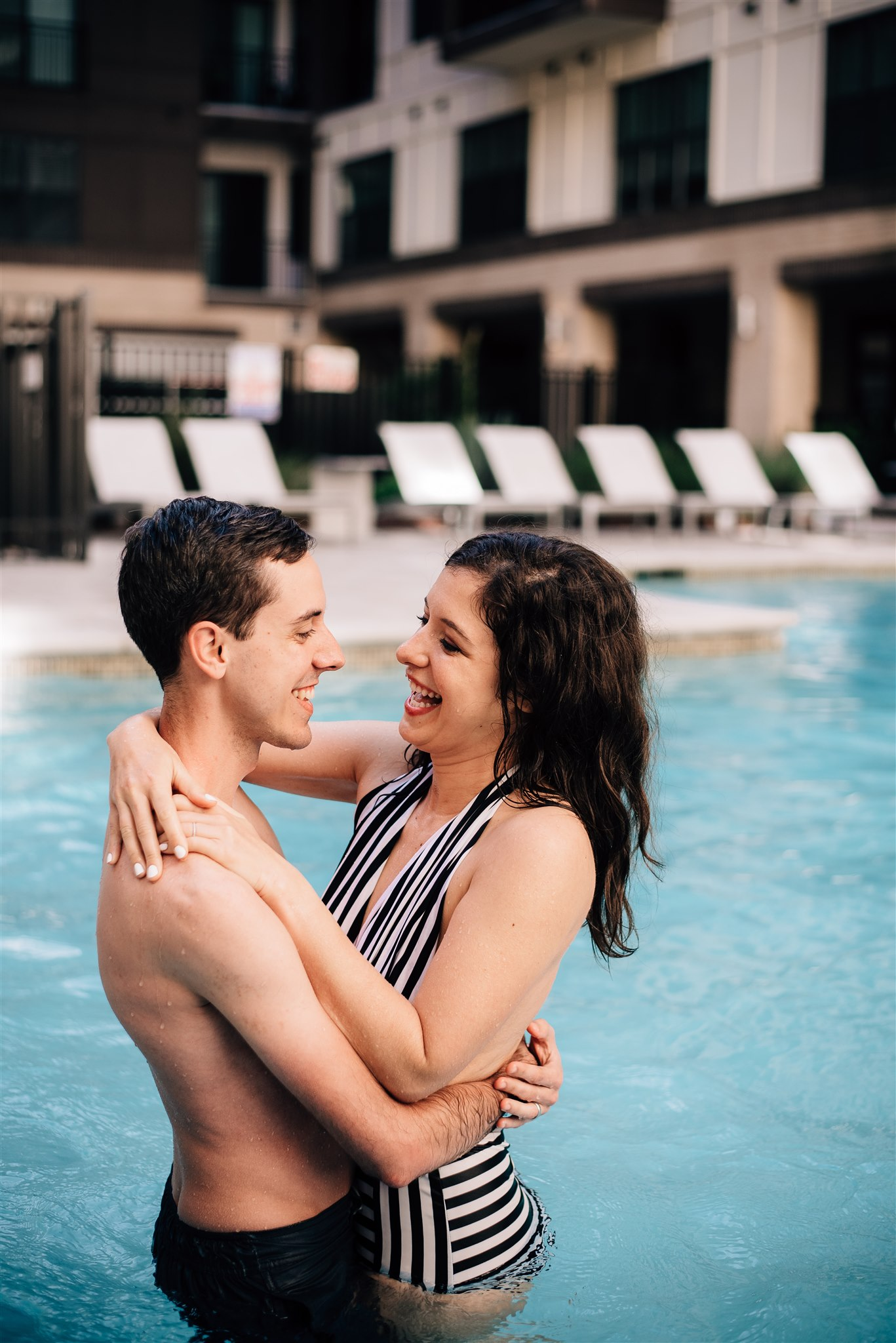 swim session 9345.jpgRaleigh Engagement Photographer - Raleigh Wedding Photographer - North Carolina Wedding Photographer - Pool Engagement Session - Pool Couple Session
