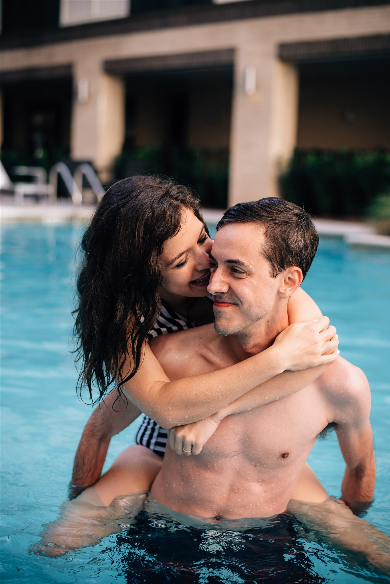 swim session 9527.jpgRaleigh Engagement Photographer - Raleigh Wedding Photographer - North Carolina Wedding Photographer - Pool Engagement Session - Pool Couple Session