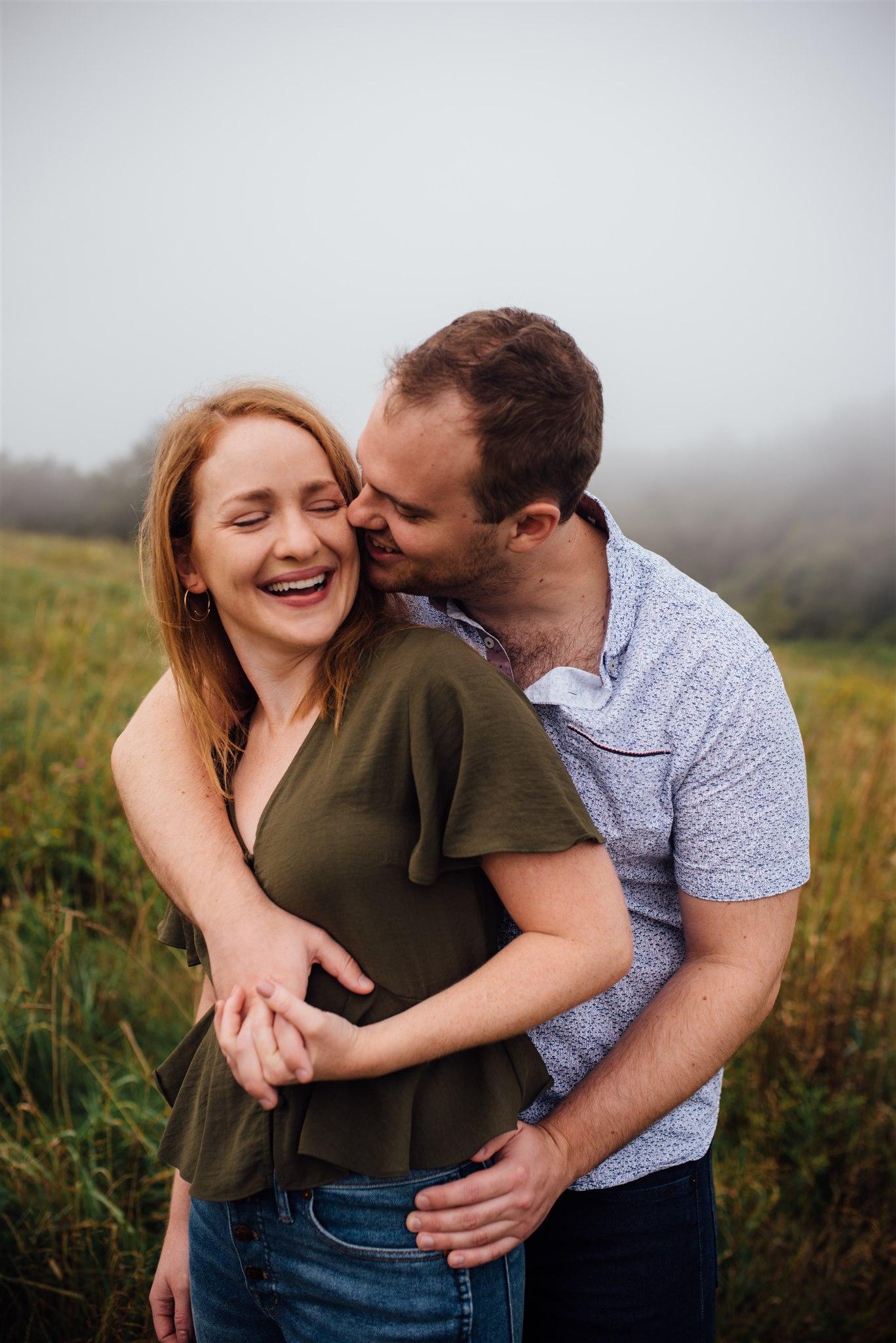 max patch engagement - asheville wedding photographer - blue ridge mountain engagement - north carolina wedding photographer