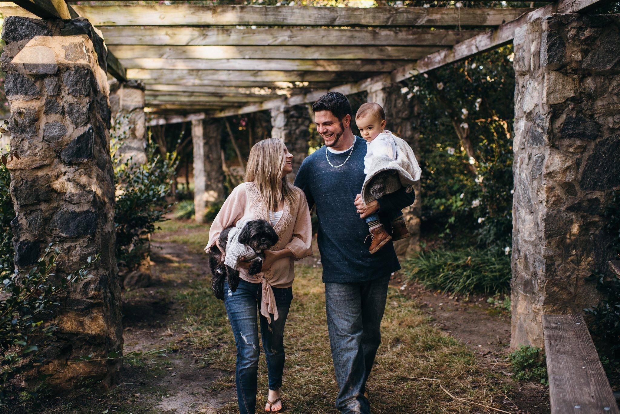 Raleigh Family Photographer - North Carolina Family Photographer - Raleigh Rose Garden Family Session
