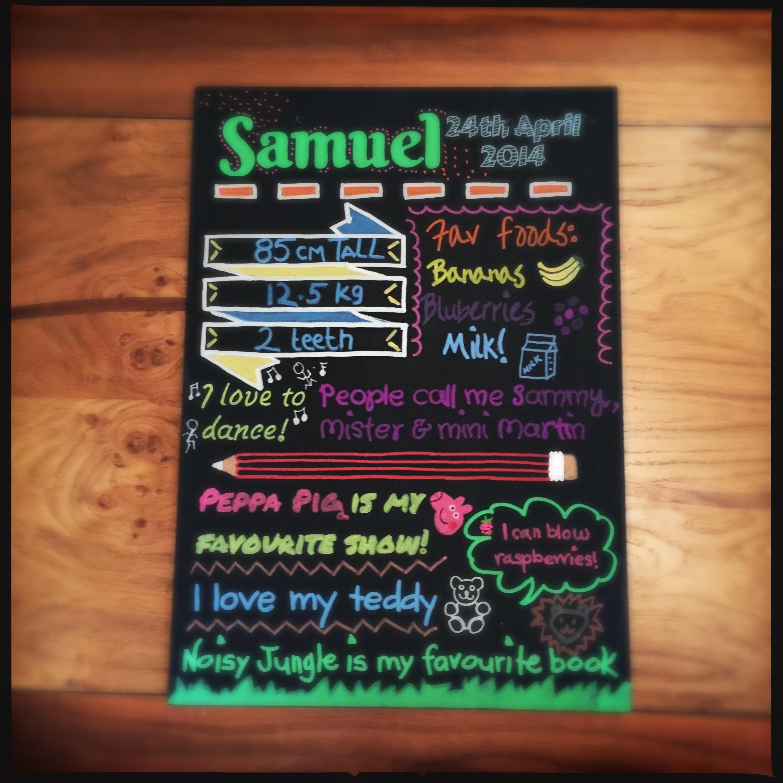 1st Birthday Board