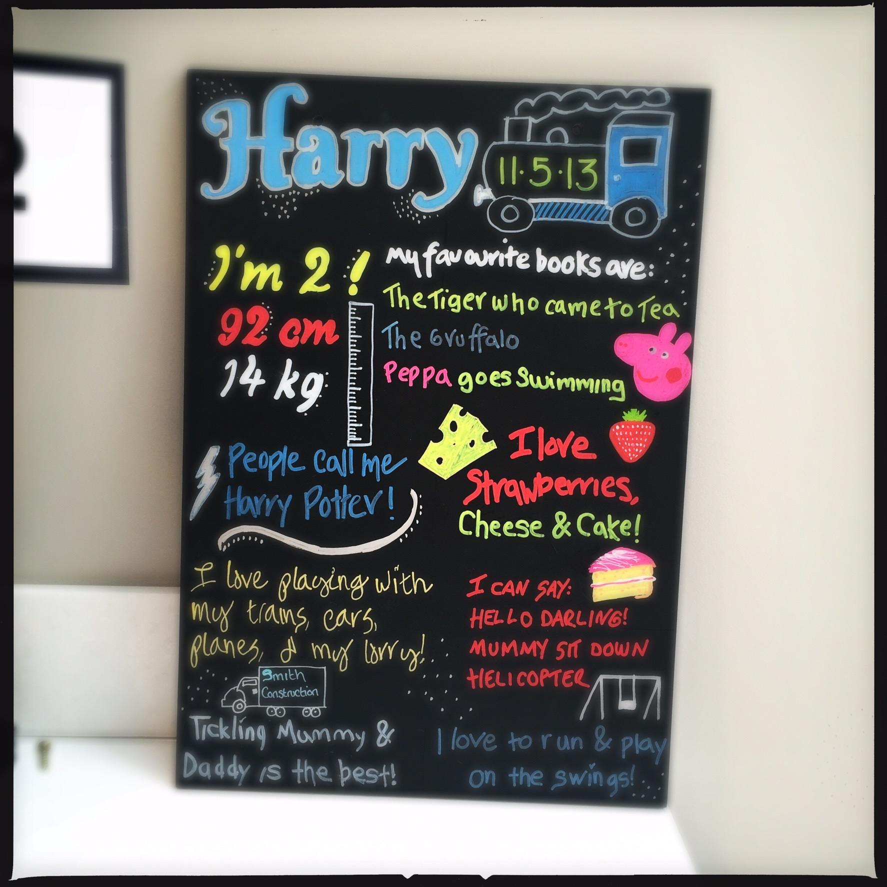 2nd Birthday Board