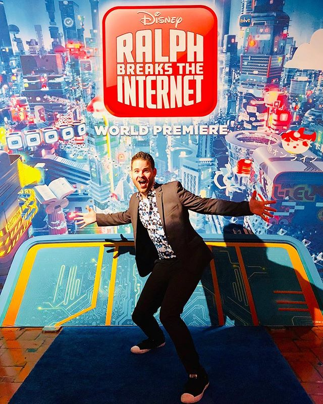 We broke the Internet last night! But don't worry, I've got my best man on it to get it back up and running! DJ'ing the World Premiere of Ralph Breaks the Internet was incredible!