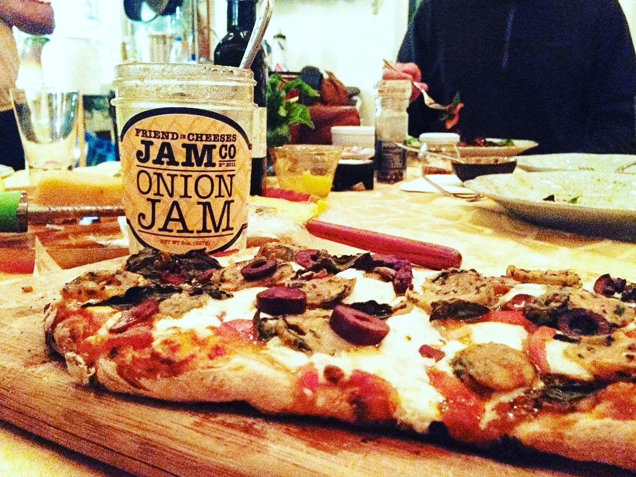 Slather Onion Jam onto pizza dough for an amazing sauce!