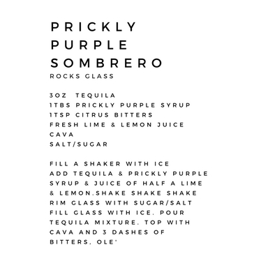 Prickly Purple Sombrero Cocktail Kit- Bitters and Jam - www.friendincheeses.com