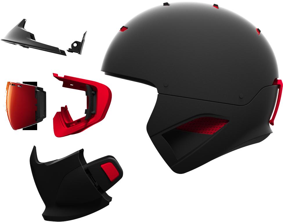 Un casque intégral - Le RG1-DX: c'est un système de protection complet incluant casque, masque et protection avant. Tout est conçu pour s'emboîter parfaitement et ne former qu'une seule pièce. La coque en ABS, le système anti-buée RAID, le masque MagLoc avec écran iridium magnétique, système audio Bluetooth amovible*... les casques Ruroc se veulent bien haut de gamme.