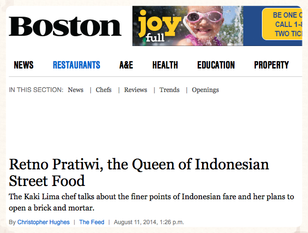 """""""One young talent, Retno Pratiwi, seems primed for much bigger things."""""""