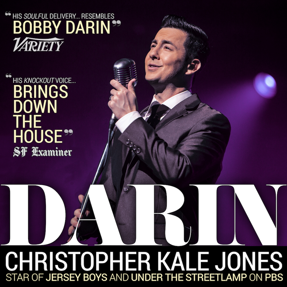 """This is a rare opportunity to hear the star of  Jersey Boys  and  Under The Streetlamp on PBS sing Bobby Darin's biggest hits: """"Dream Lover,"""" """"Mack the Knife,"""" """"Splish Splash,"""" and many more! Listen to the LIVE album recorded January 6th and 7th at Chicago's very own Mercury Theater.  More on DARIN: Pieced together with charismatic storytelling that goes behind the veil of Bobby's fame and brash public life,  Darin  flows from the poignant to the celebratory, all while delivering hit after hit.VARIETY says """" His Soulful delivery... resembles Bobby Darin"""" & SF Examiner says """" His knockout voice...brings down the house ."""""""