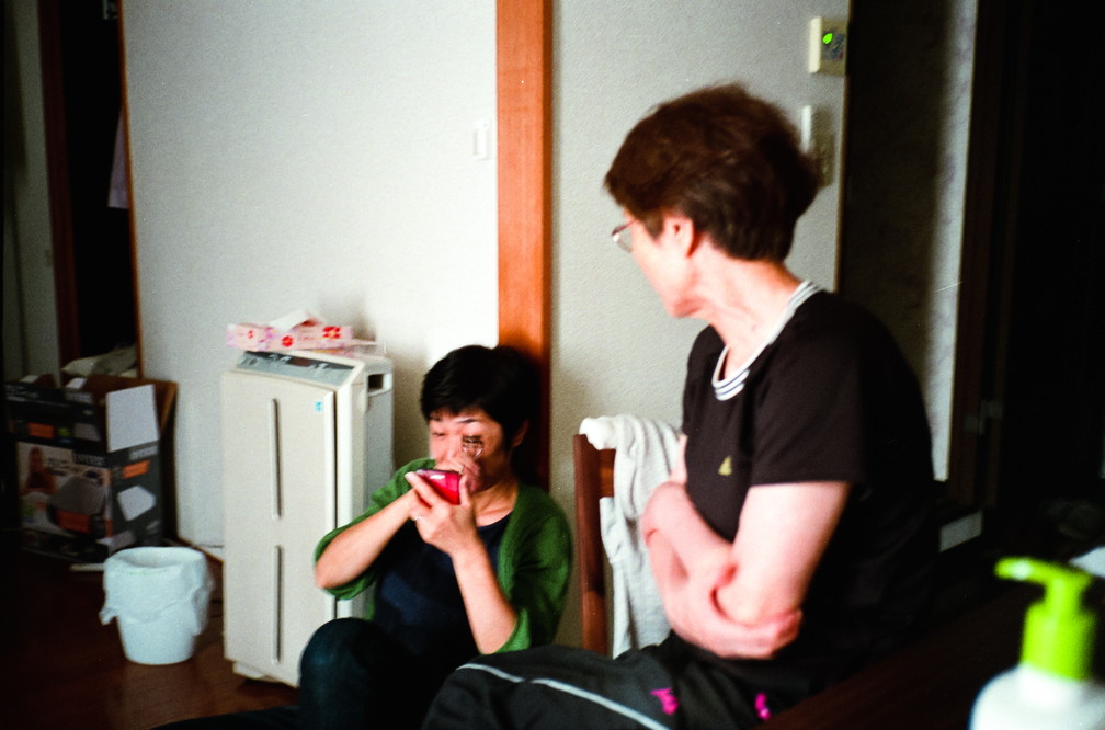 August 2016, Mum and Grandma in my flat