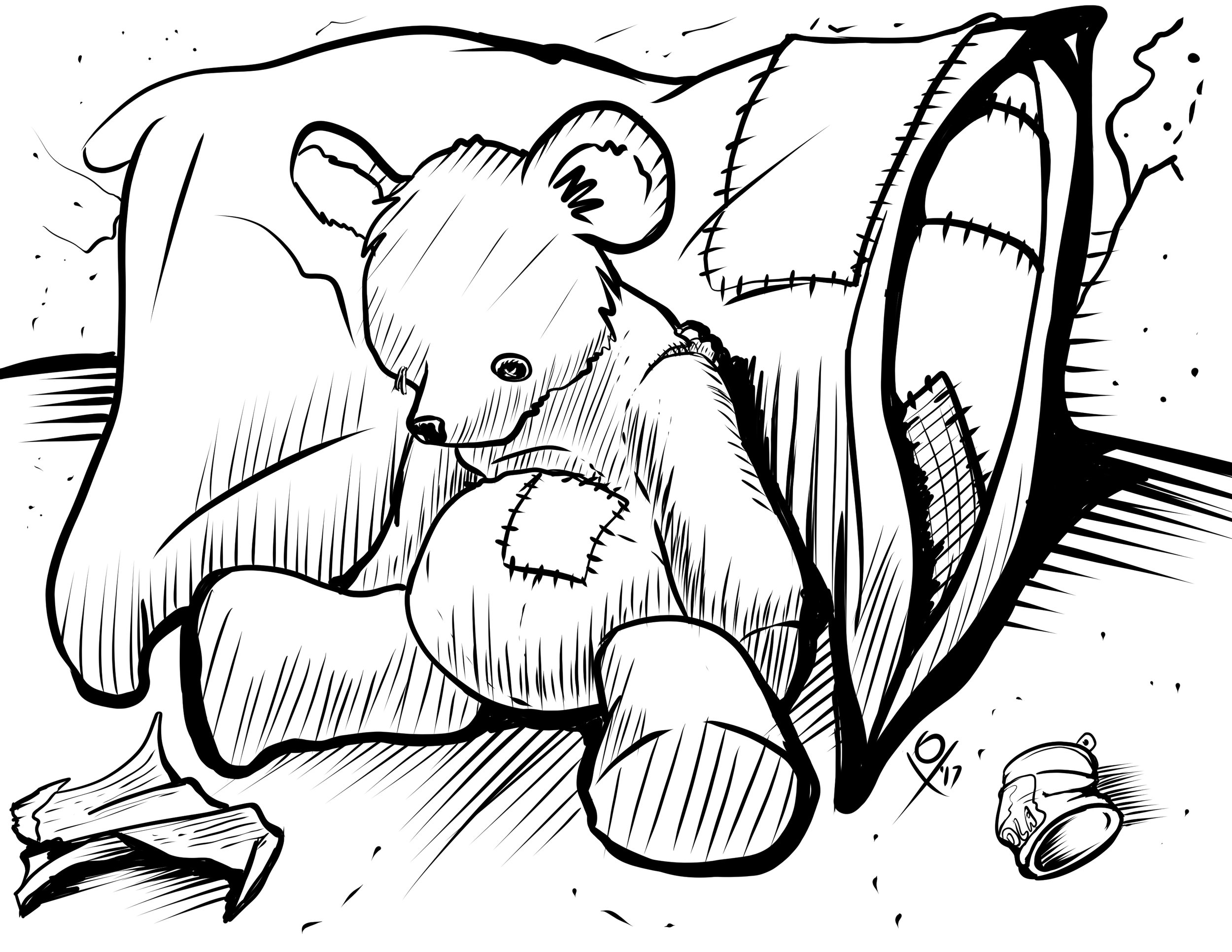149-Patched Pillow w Teddy Bear.jpg