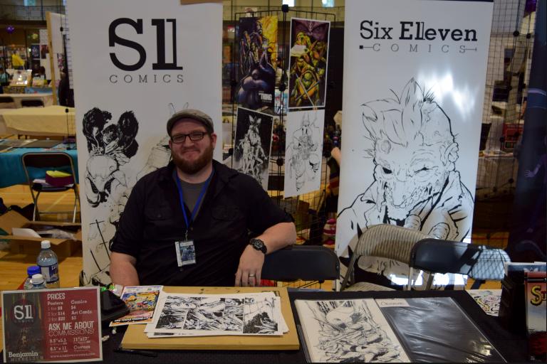 Ben Mikkelsen at Fort Collins Comic Con 2017.