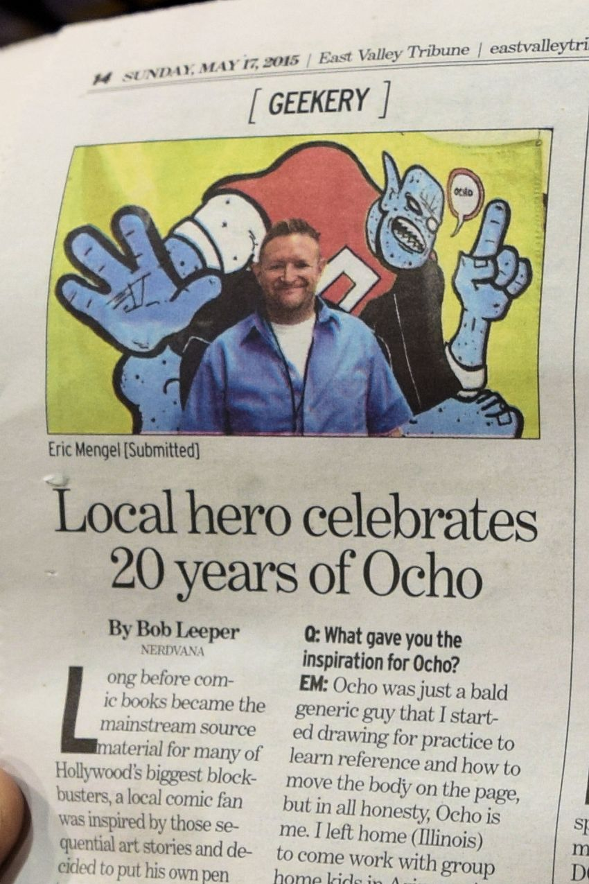 Eric Mengel and Ocho in the East Valley Tribune.