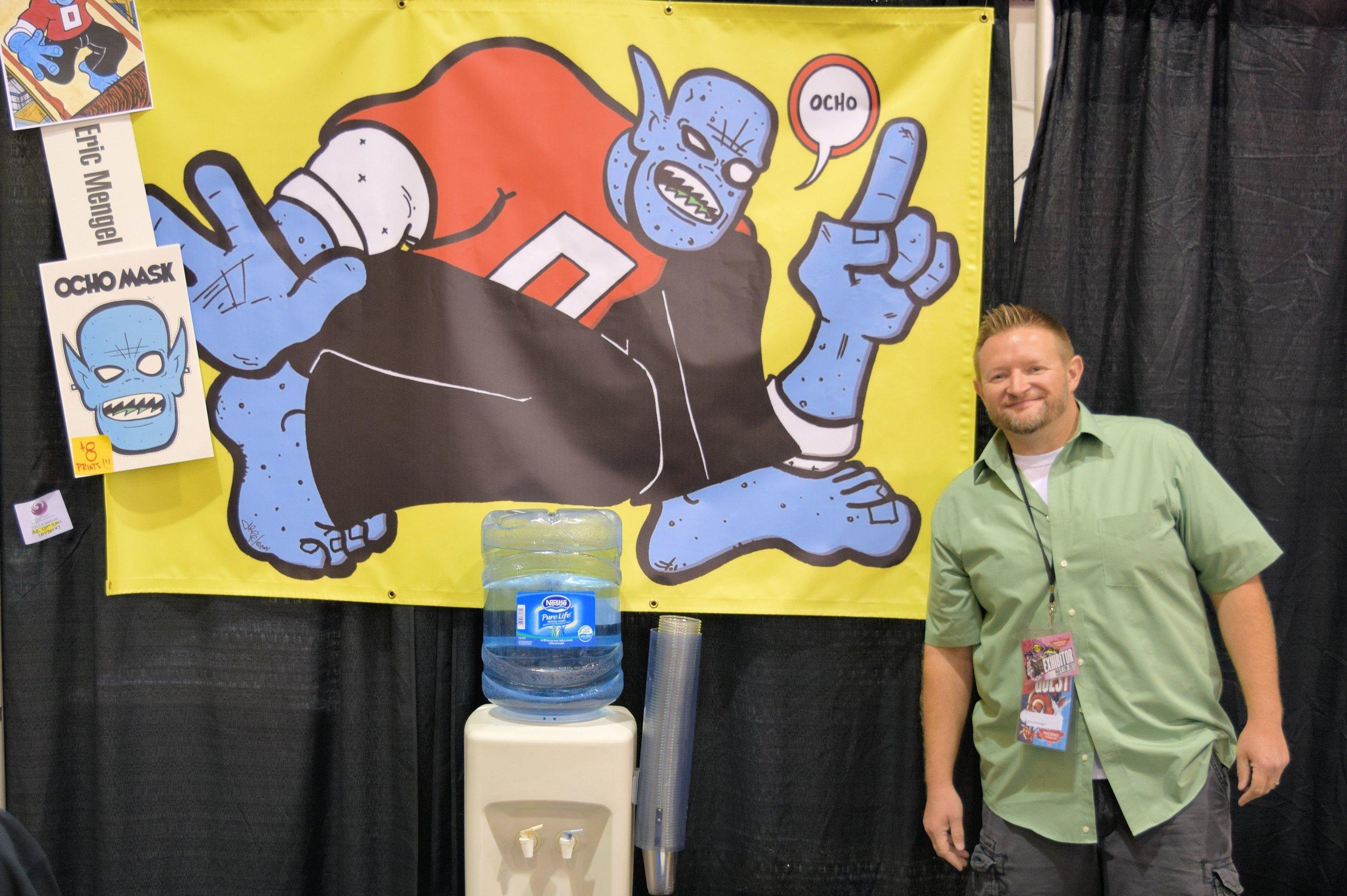 Eric Mengel of Ocho Comics at Phoenix Comic Con 2015.