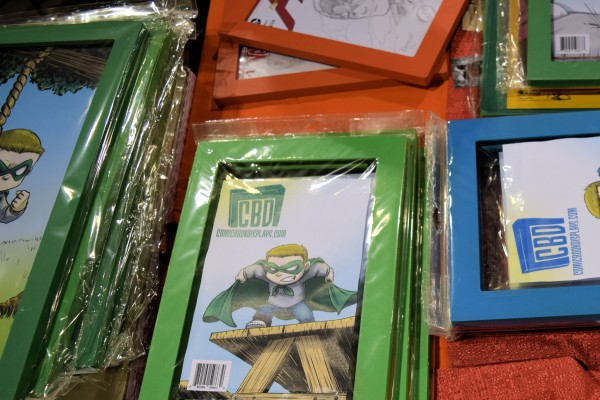 Some of the frames available through ComicBookDisplays.com.