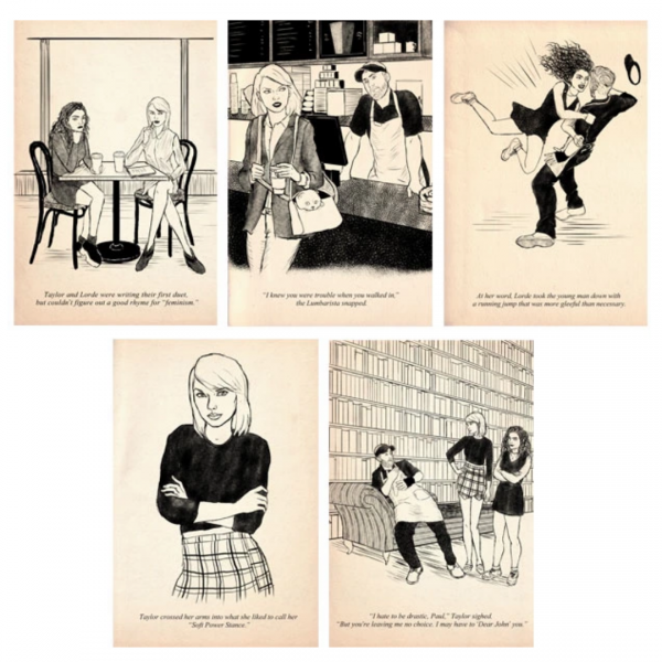 Taylor Swift: Girl Detective Kickstarter reward - postcards.