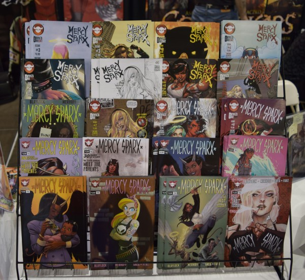 Mercy Sparx single issues at Phoenix Comic Con 2016.