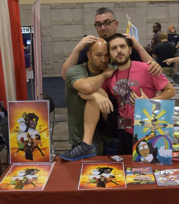 Dave Dwonch (left), Nick Marino (right), and Dan Mendoza (back) at Phoenix Comic Con 2016 (2).