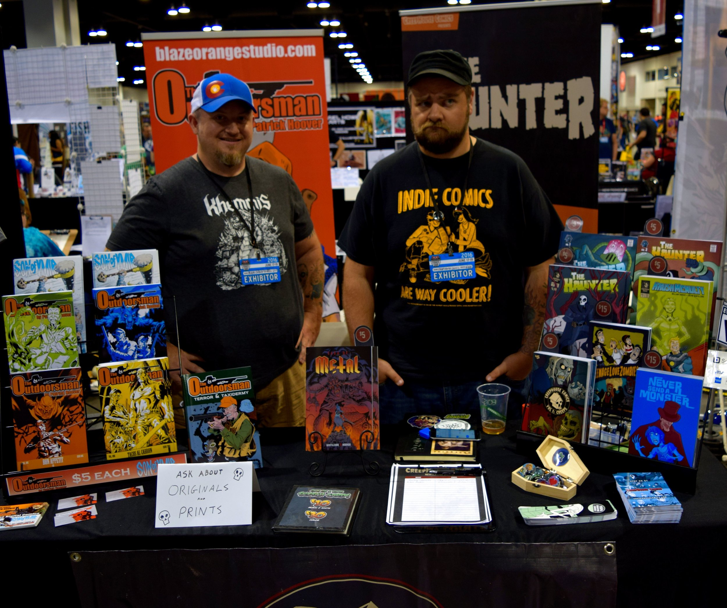 Kevin Gentilcore & Patrick Hoover at Denver Comic Con 2016.