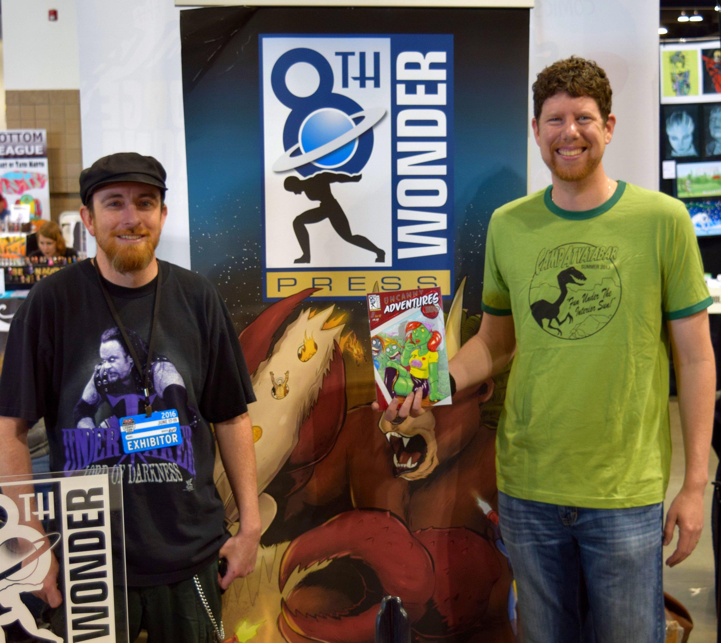 Jesse Dubin & Mister V at Denver Comic Con 2016.