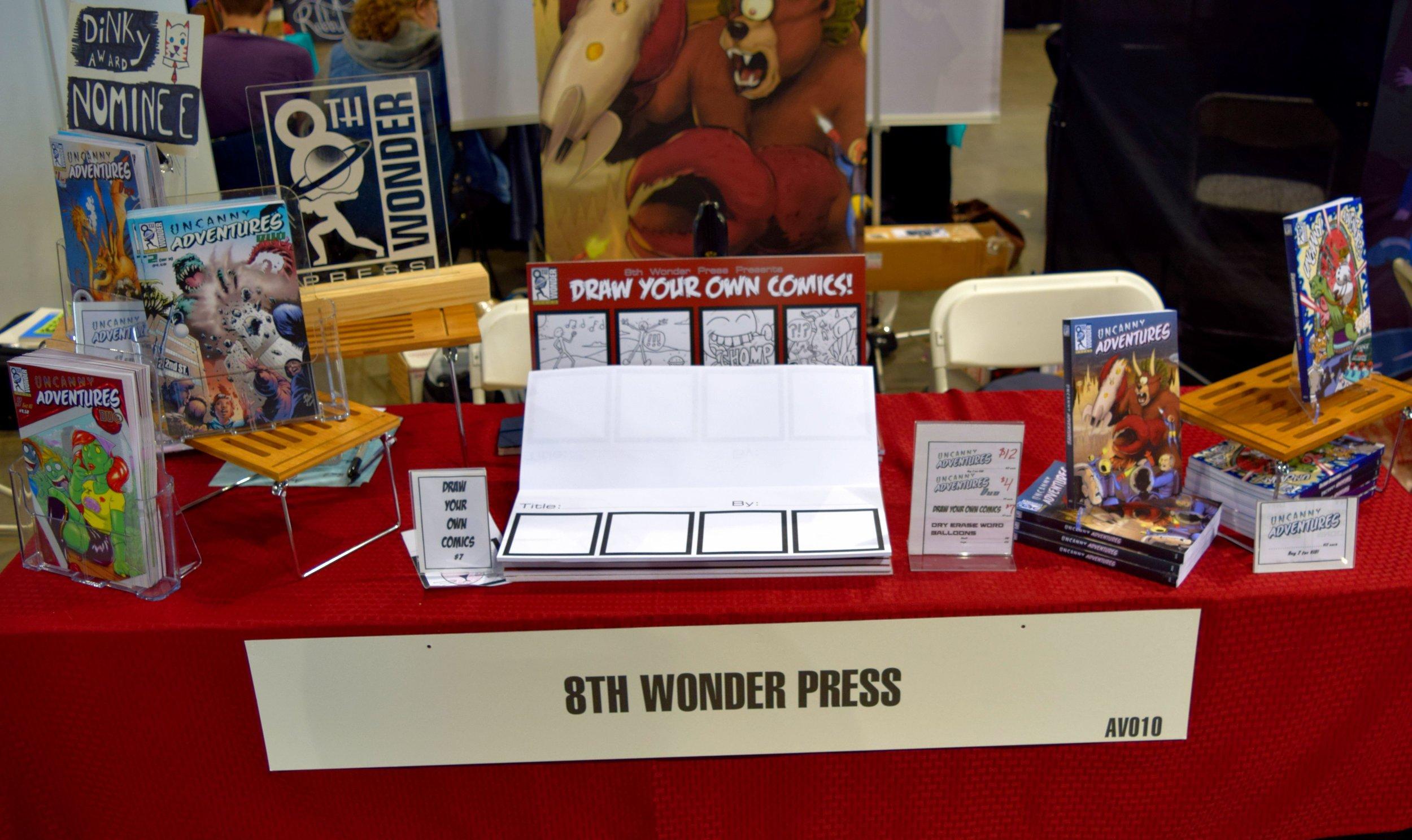 8th Wonder Press table at Denver Comic Con 2016.