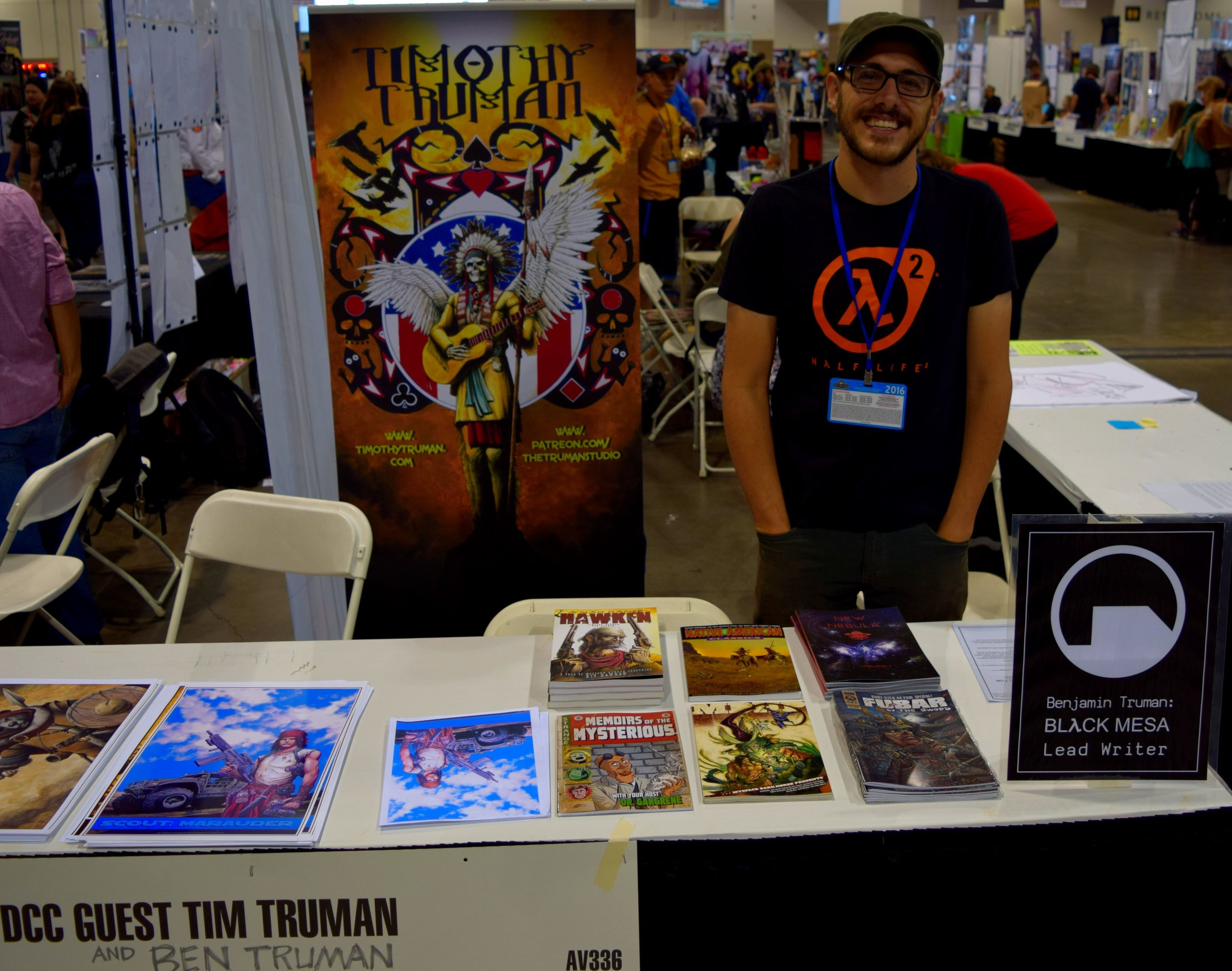 Ben Truman behind his table at Denver Comic Con 2016.