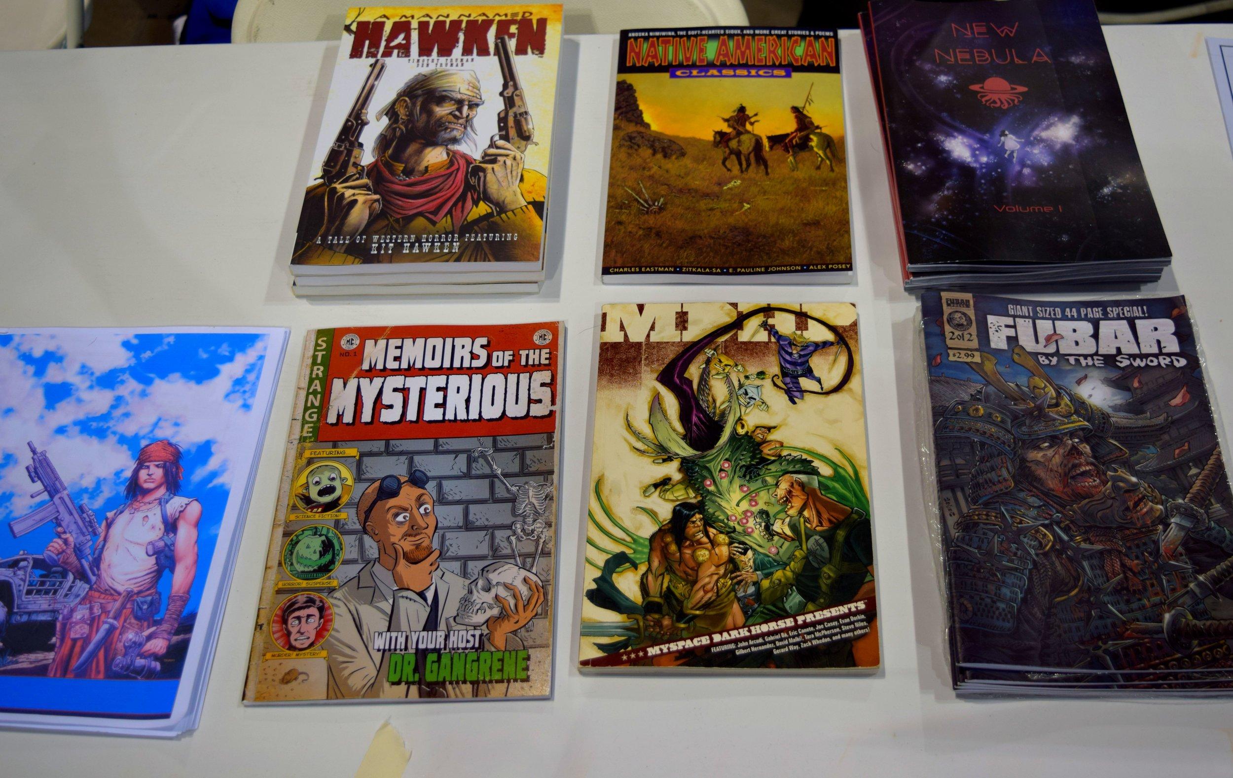 Ben Truman's comics at Denver Comic Con 2016.