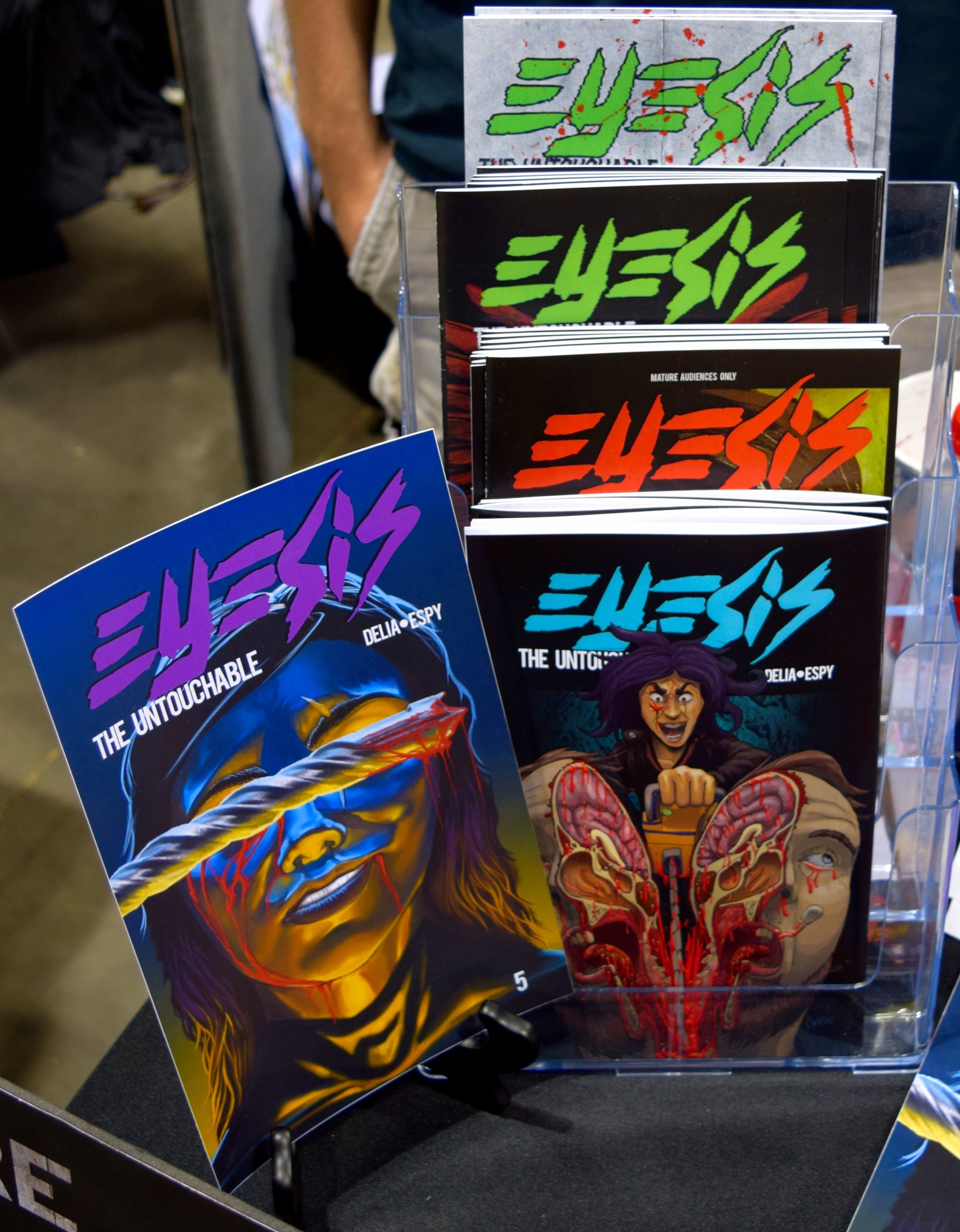 Eyesis: The Untouchable comics at Denver Comic Con 2016.