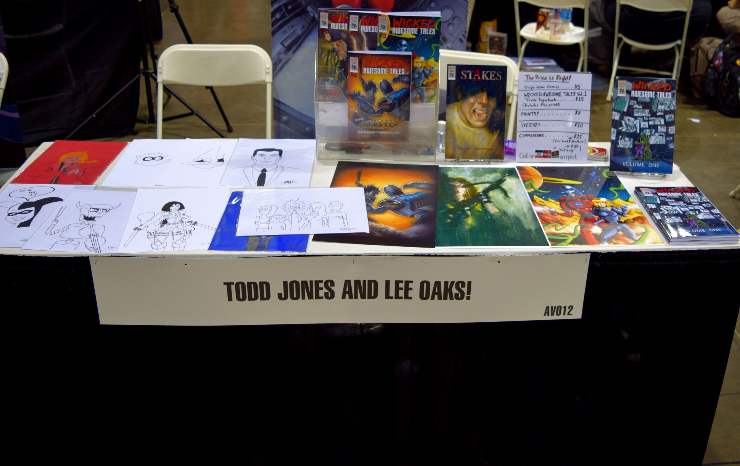 Wicked Awesome comics and prints at Denver Comic Con 2016.