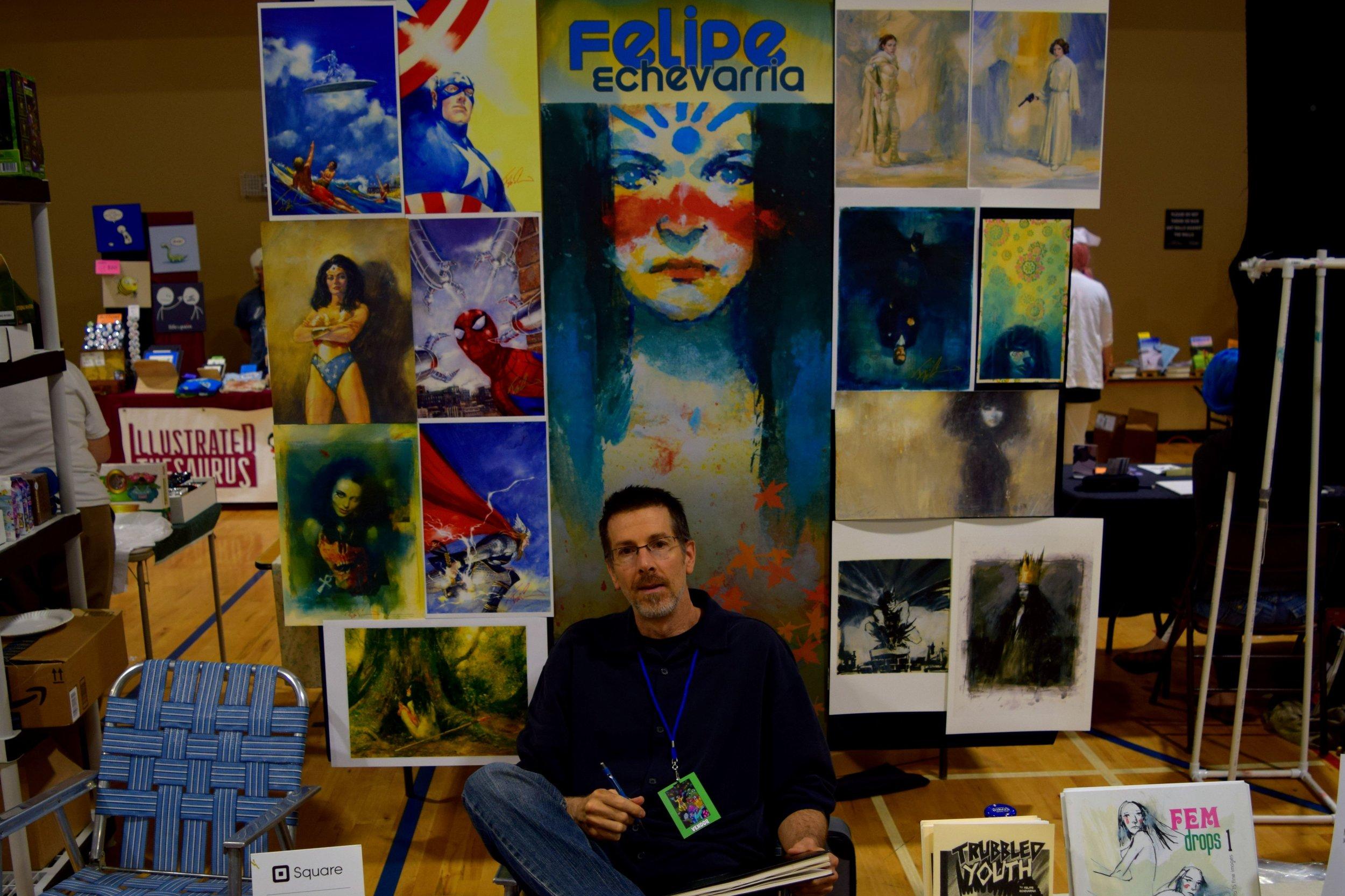 Felipe Echevarria at Fort Collins Comic Con 2016.