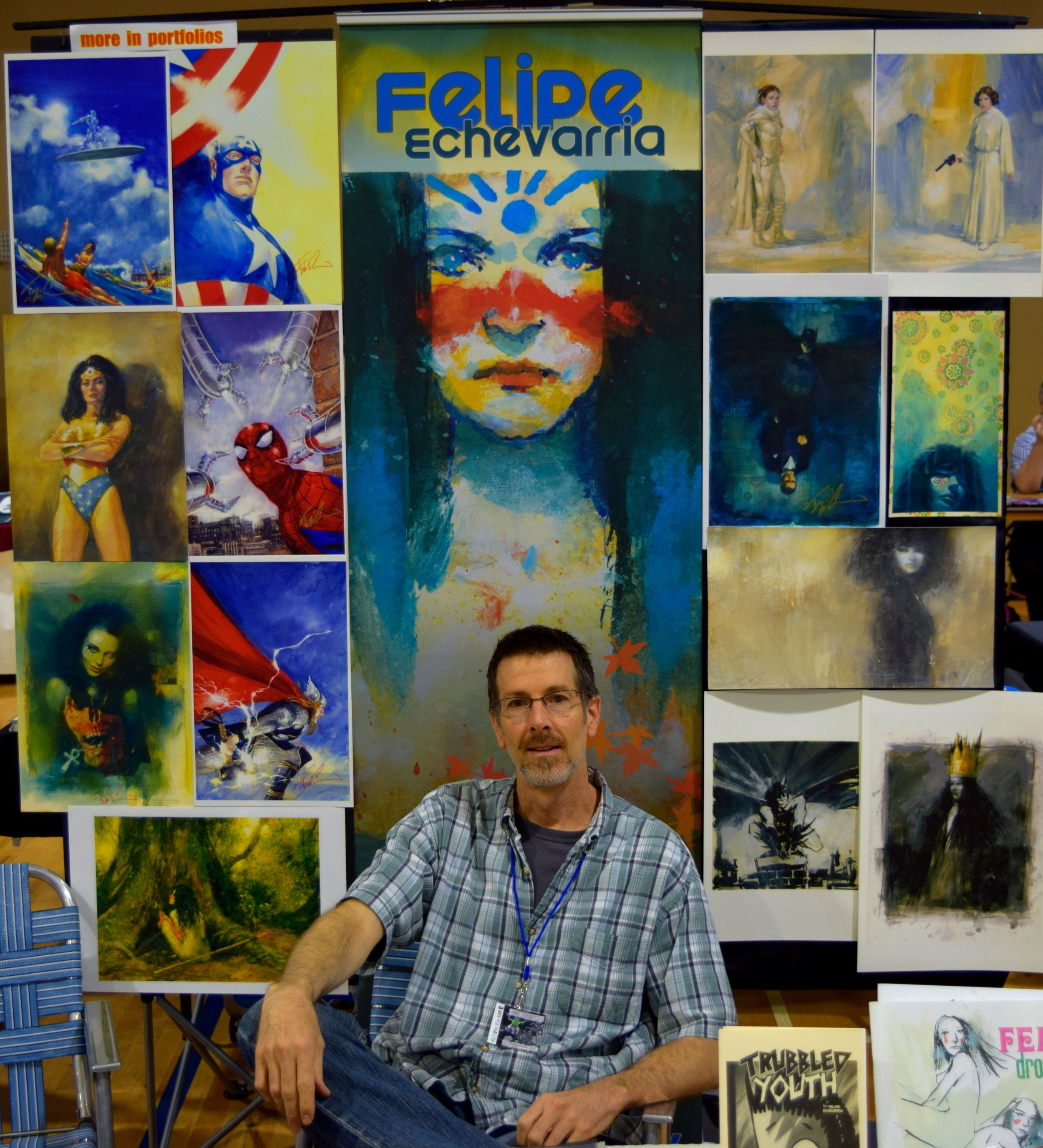 Felipe Echevarria at Fort Collins Comic Con 2016. (2)