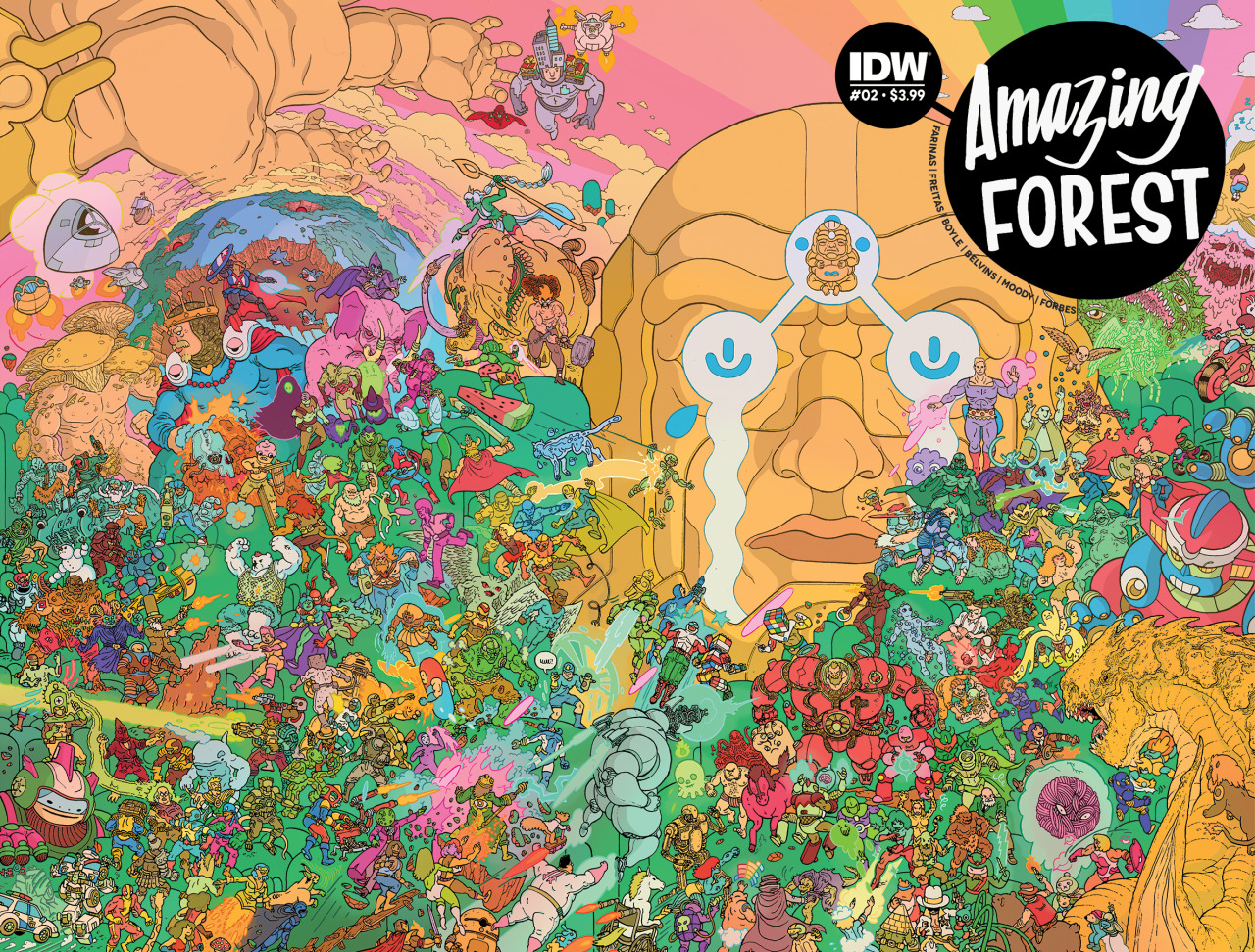 Amazing Forest #2 wraparound cover by Ulises Farinas.