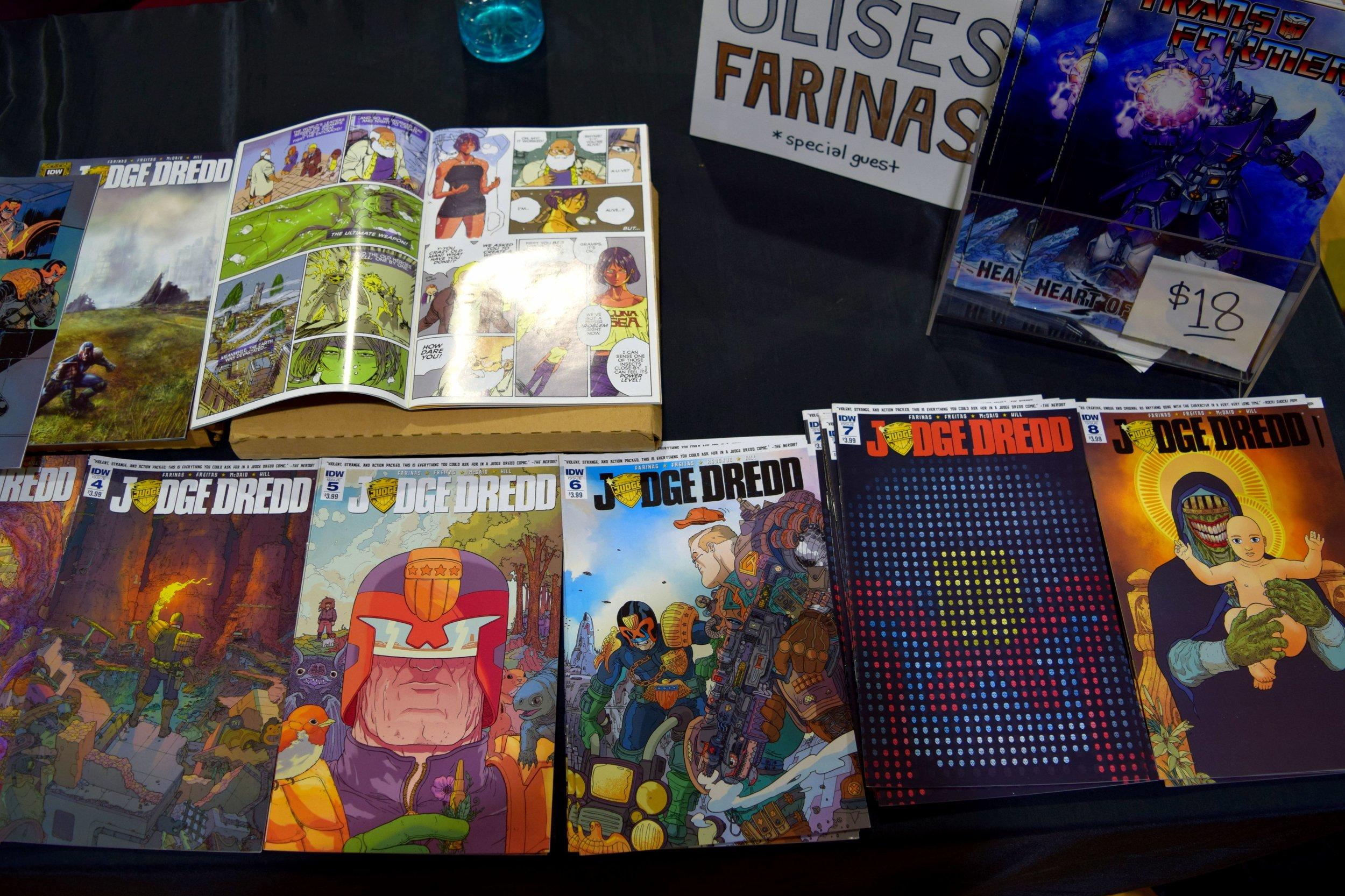 Judge Dredd comics from Ulises Farinas at Fort Collins Comic Con 2016 (2).