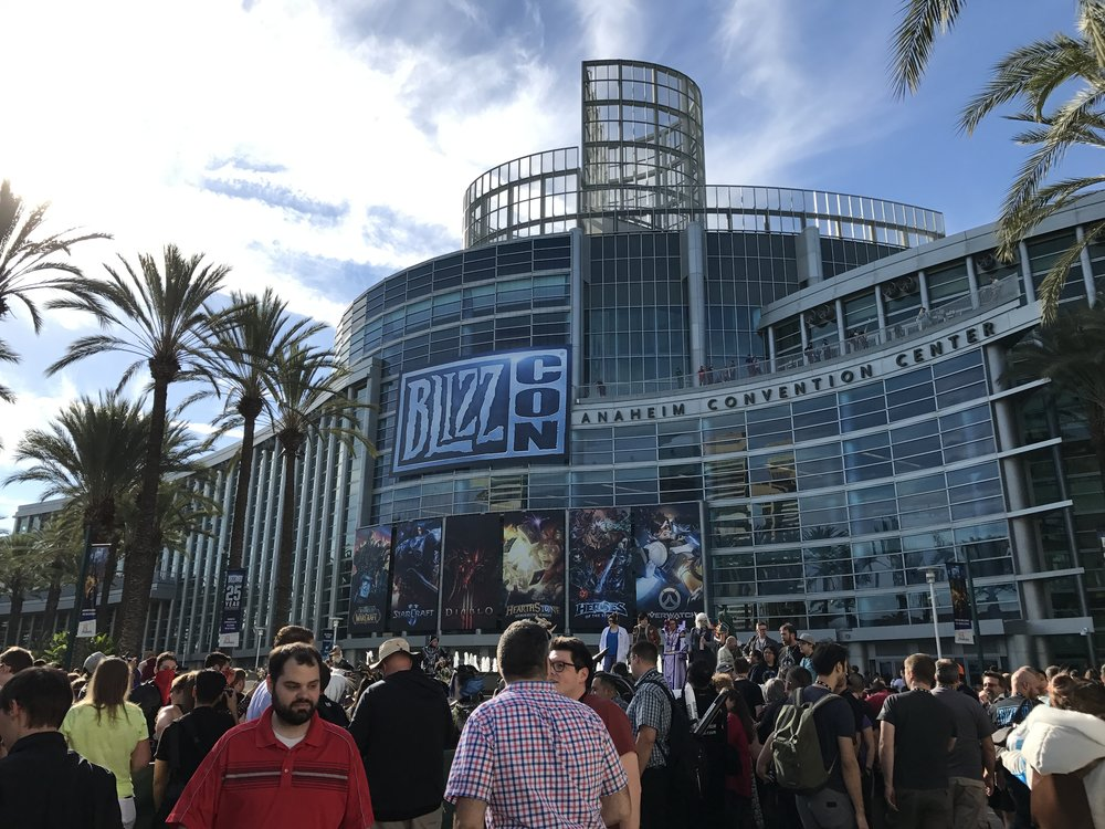 The crowds outside the Anaheim Convention Center for BlizzCon 2017.