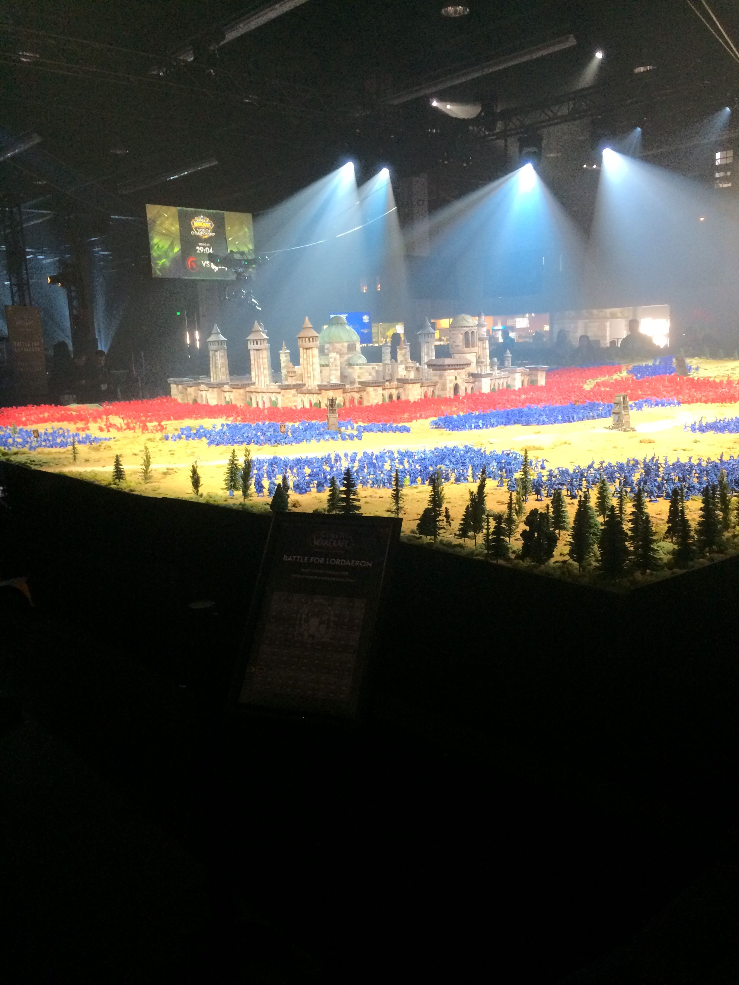 World of Warcraft: Battle for Azeroth - Battle for Lordaeron diorama at BlizzCon 2017.
