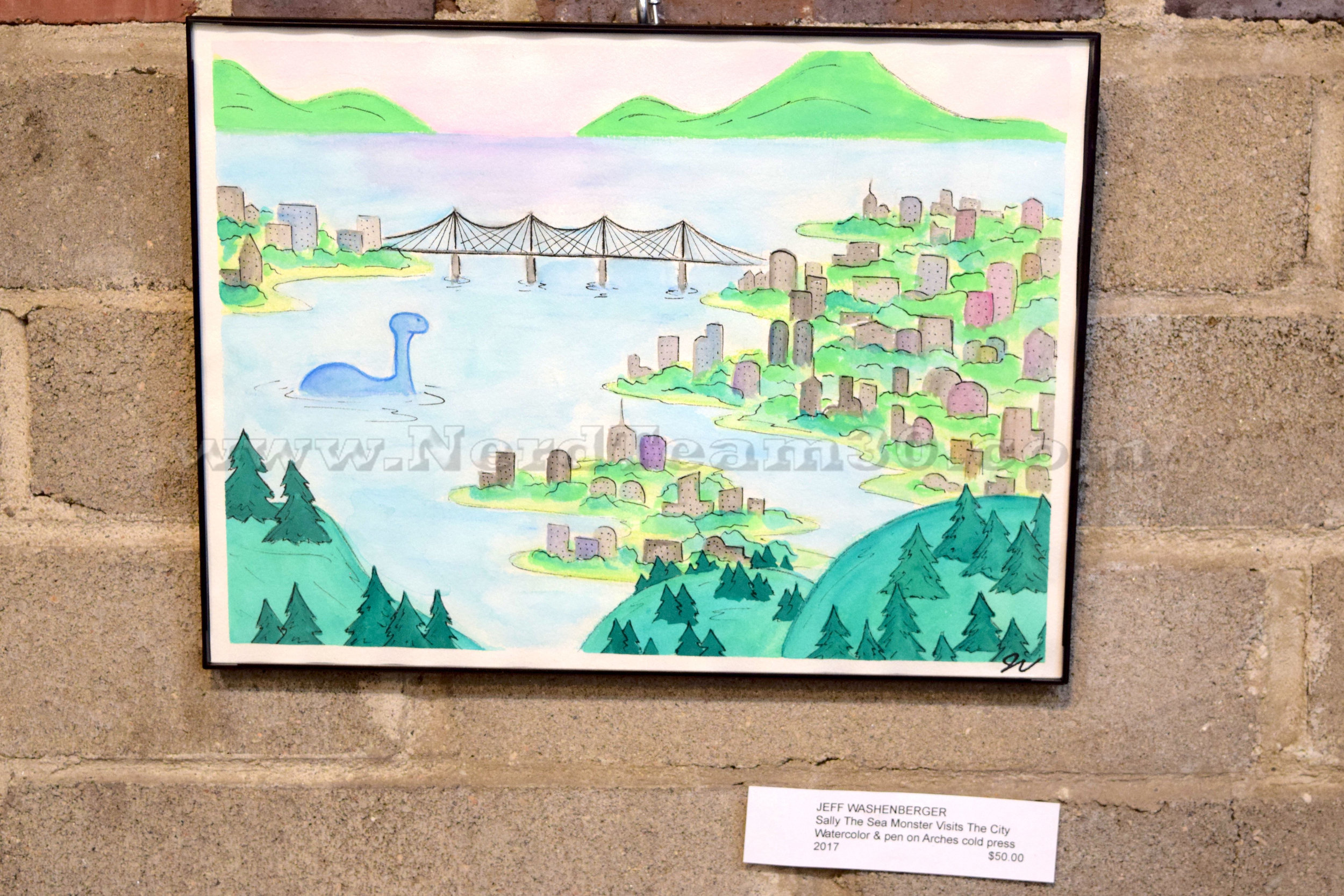 """""""Sally the Sea Monster Visits the City"""" by Jeff Washenberger"""